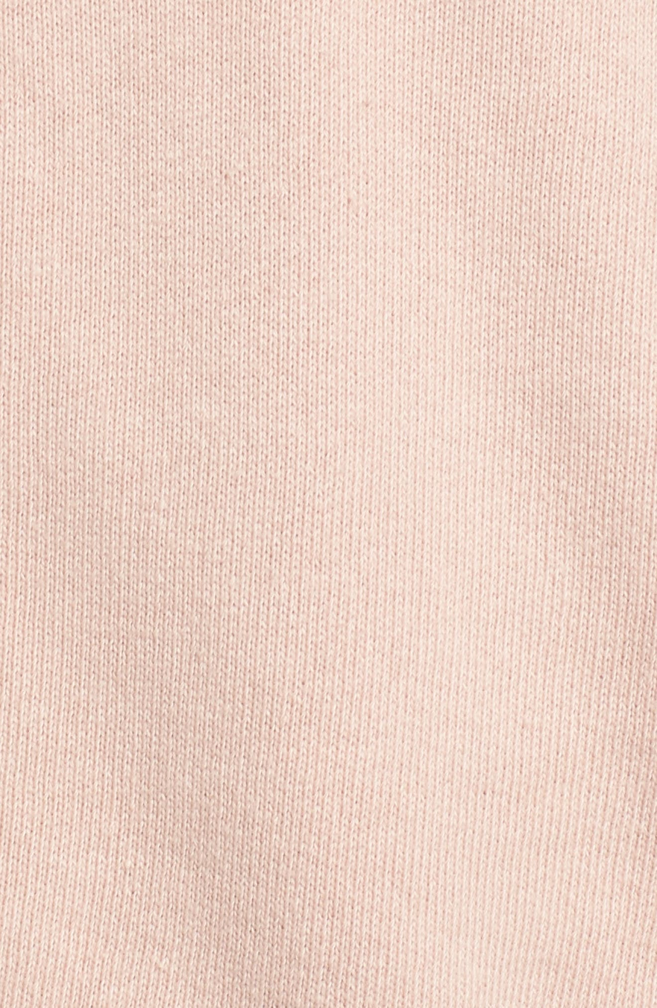 Cold Shoulder Hoodie,                             Alternate thumbnail 5, color,                             Pink Beige