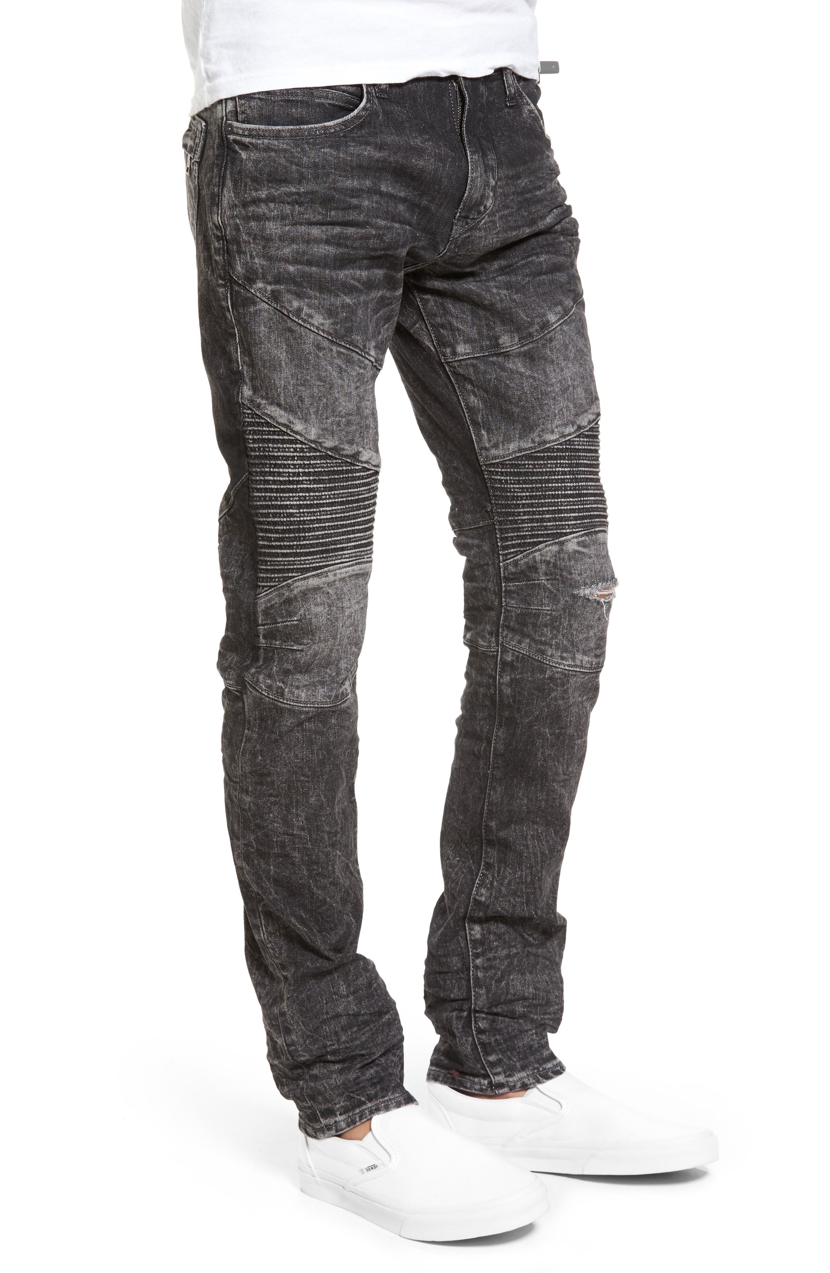 Rocco Skinny Fit Jeans,                             Alternate thumbnail 2, color,                             Dark Raven