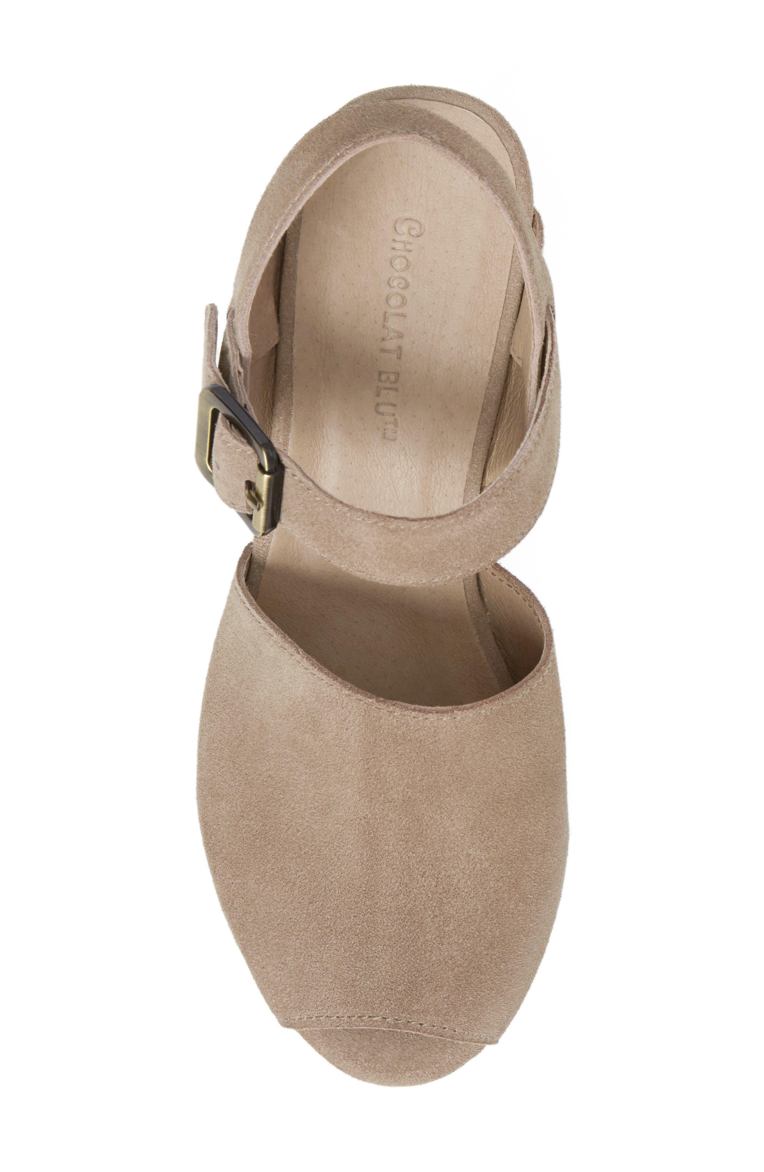 Alternate Image 5  - Chocolat Blu Wagga Platform Wedge Sandal (Women)