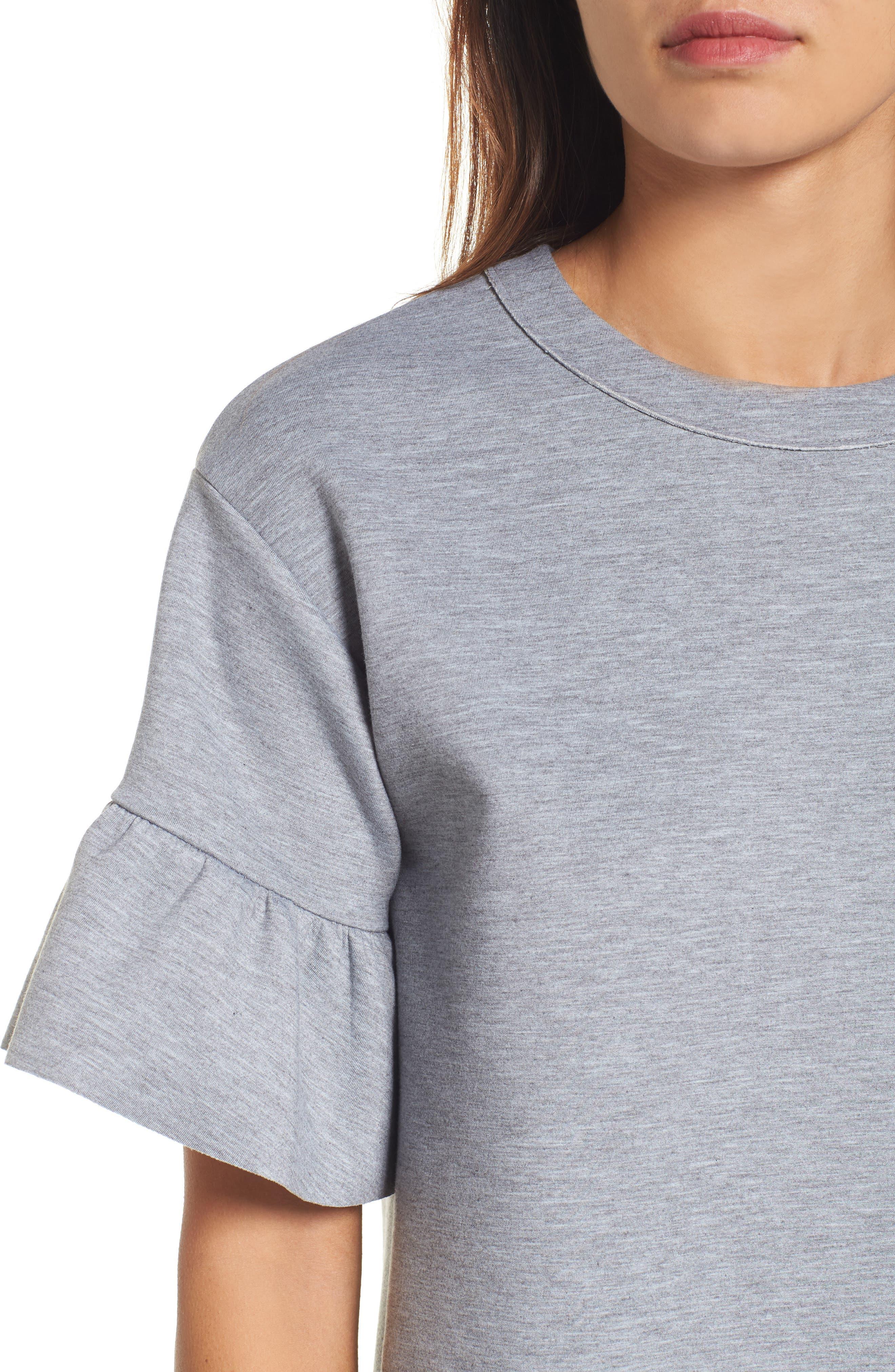 Alternate Image 5  - Halogen® Ruffle Sleeve Tunic (Regular & Petite)