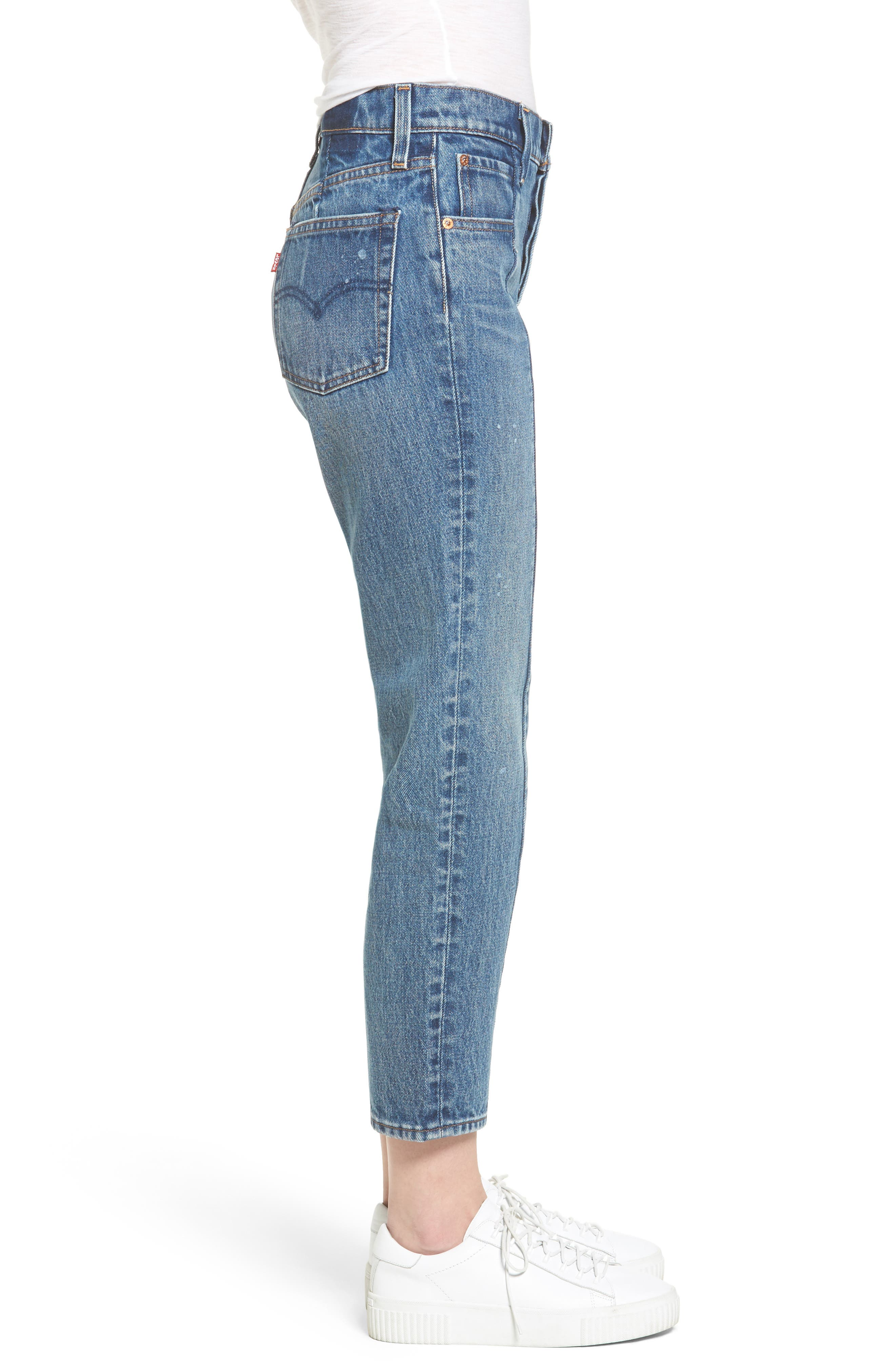 Wedgie Altered Straight Leg Crop Jeans,                             Alternate thumbnail 3, color,                             No Limits
