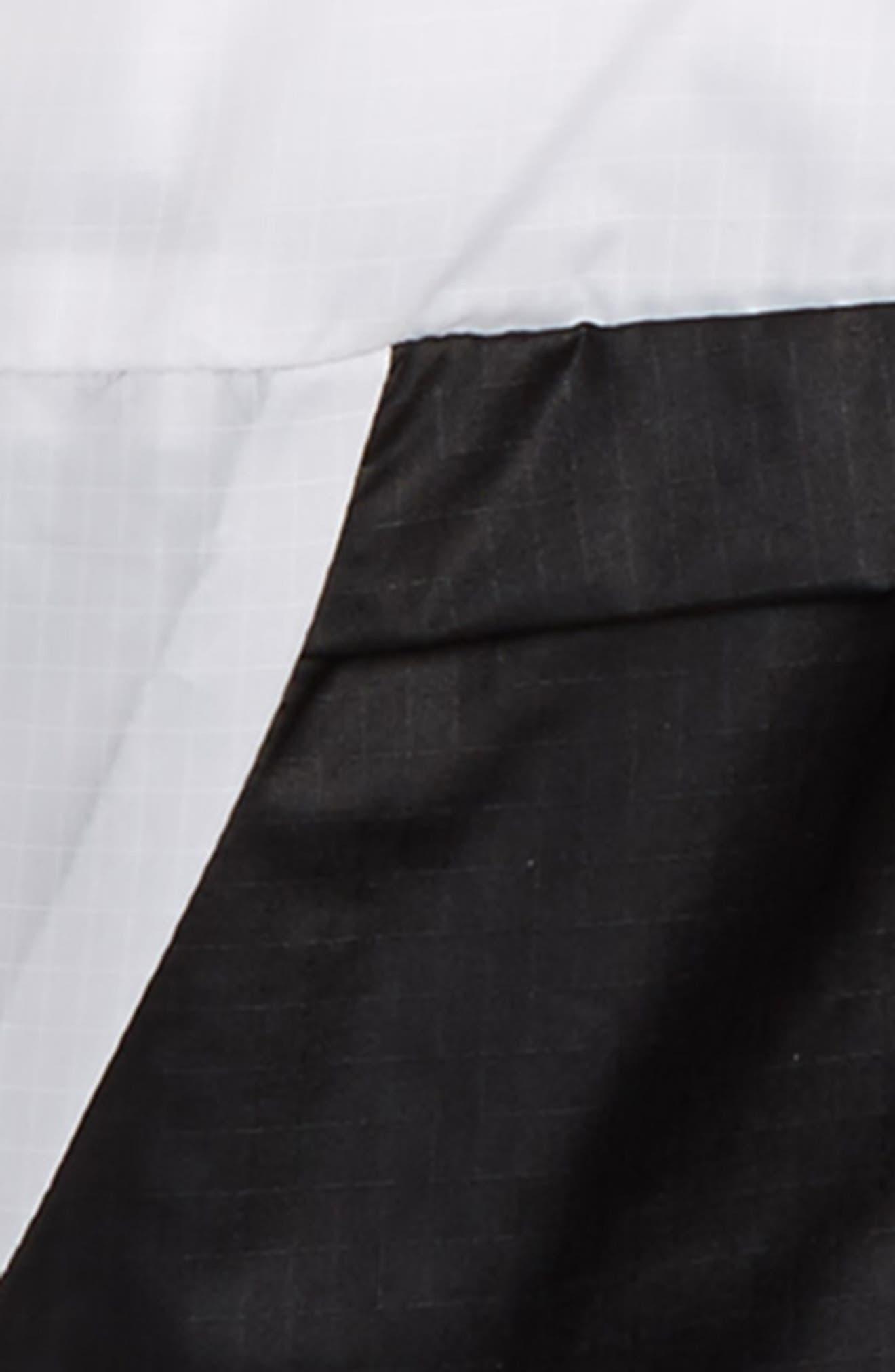 Two Tone Quarter Zip Jacket,                             Alternate thumbnail 2, color,                             Black/ White