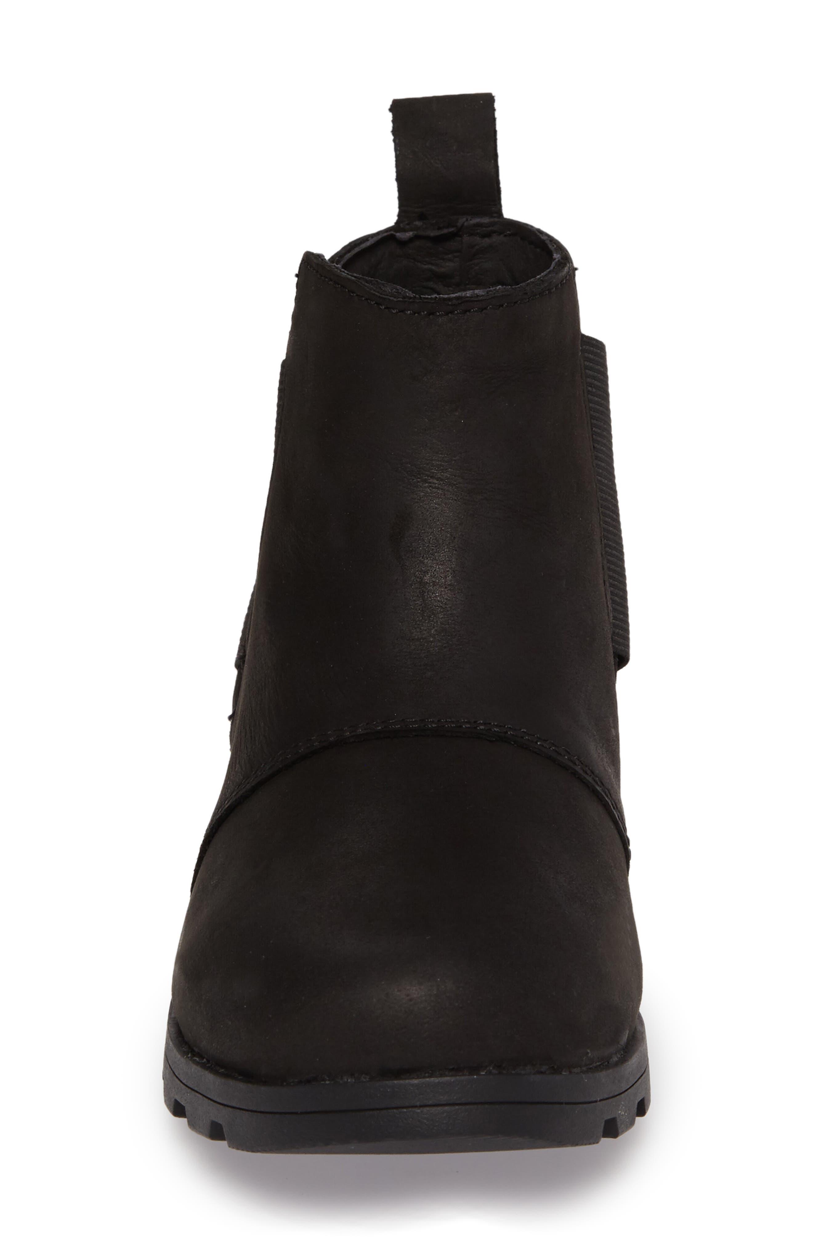 Emelie Waterproof Chelsea Boot,                             Alternate thumbnail 4, color,                             Black/ Black