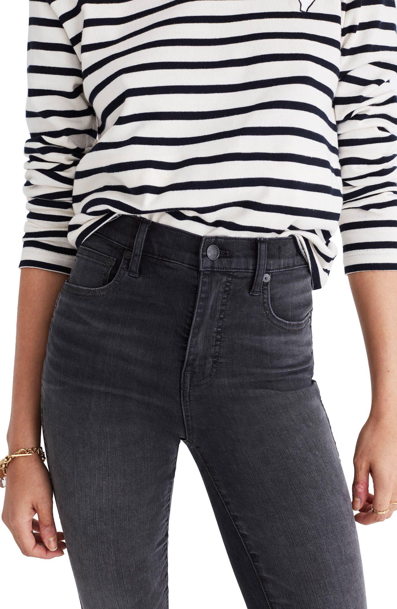 Alternate Image 4  - Madewell 10-Inch High Rise Step Hem Skinny Jeans (Slater Wash)