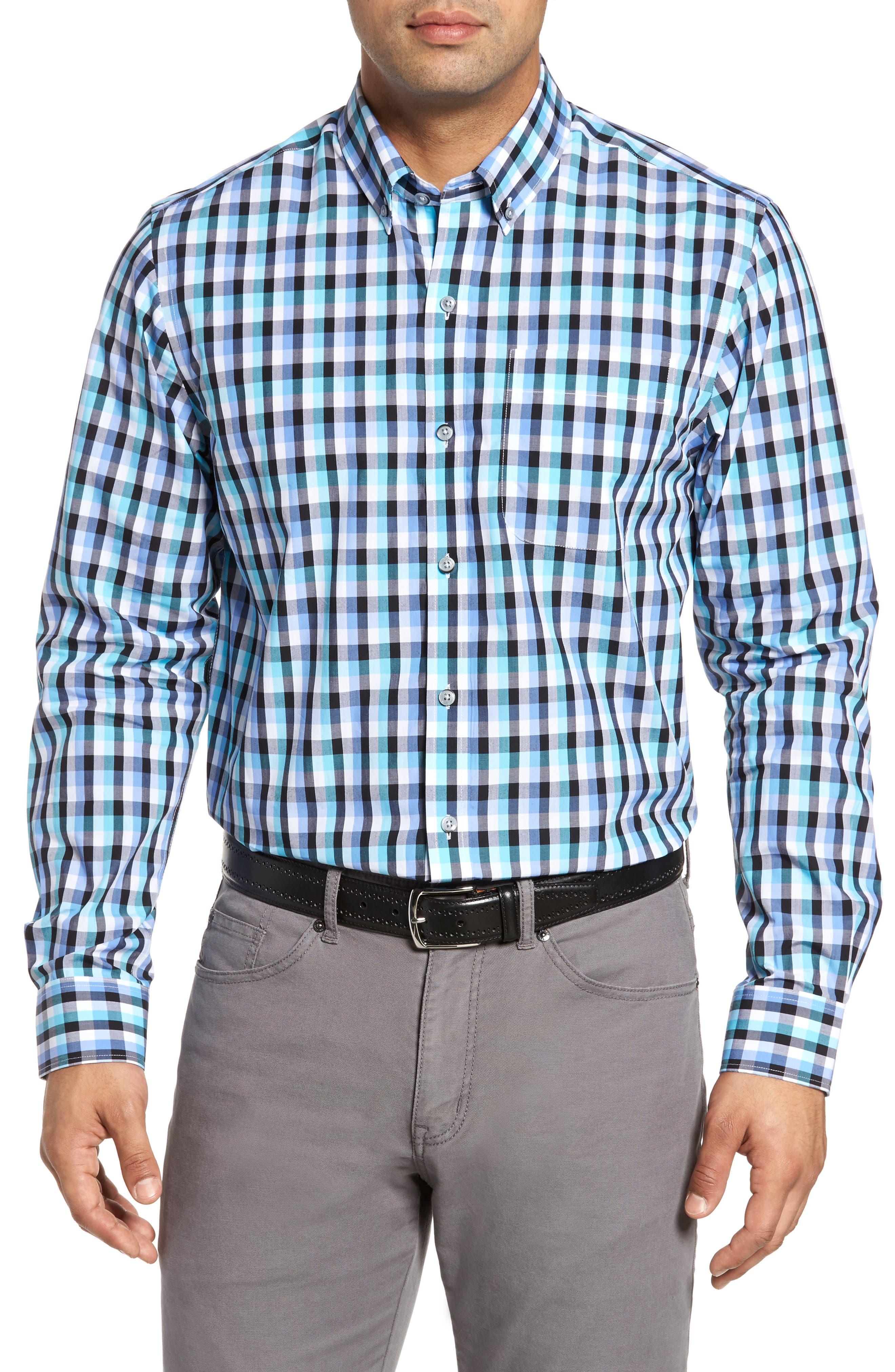 Cutter & Buck Sawyer Check Non-Iron Sport Shirt (Big & Tall)