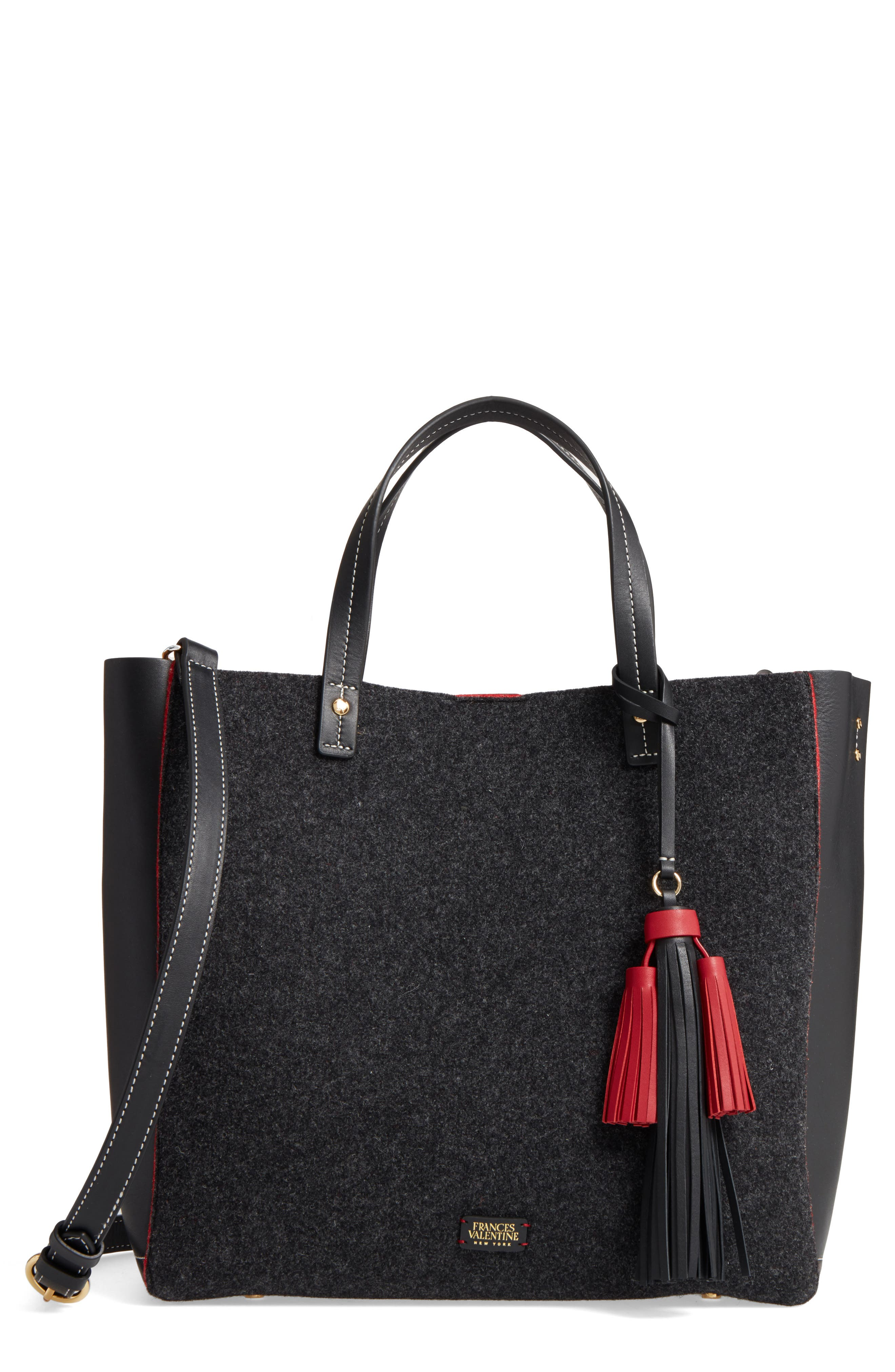 Frances Valentine Wool & Leather Convertible Tote