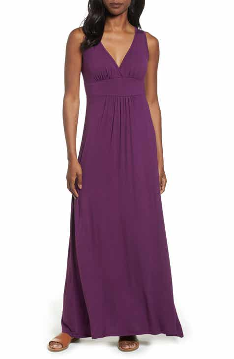 6c35385360 Loveappella V-Neck Jersey Maxi Dress (Regular   Petite)