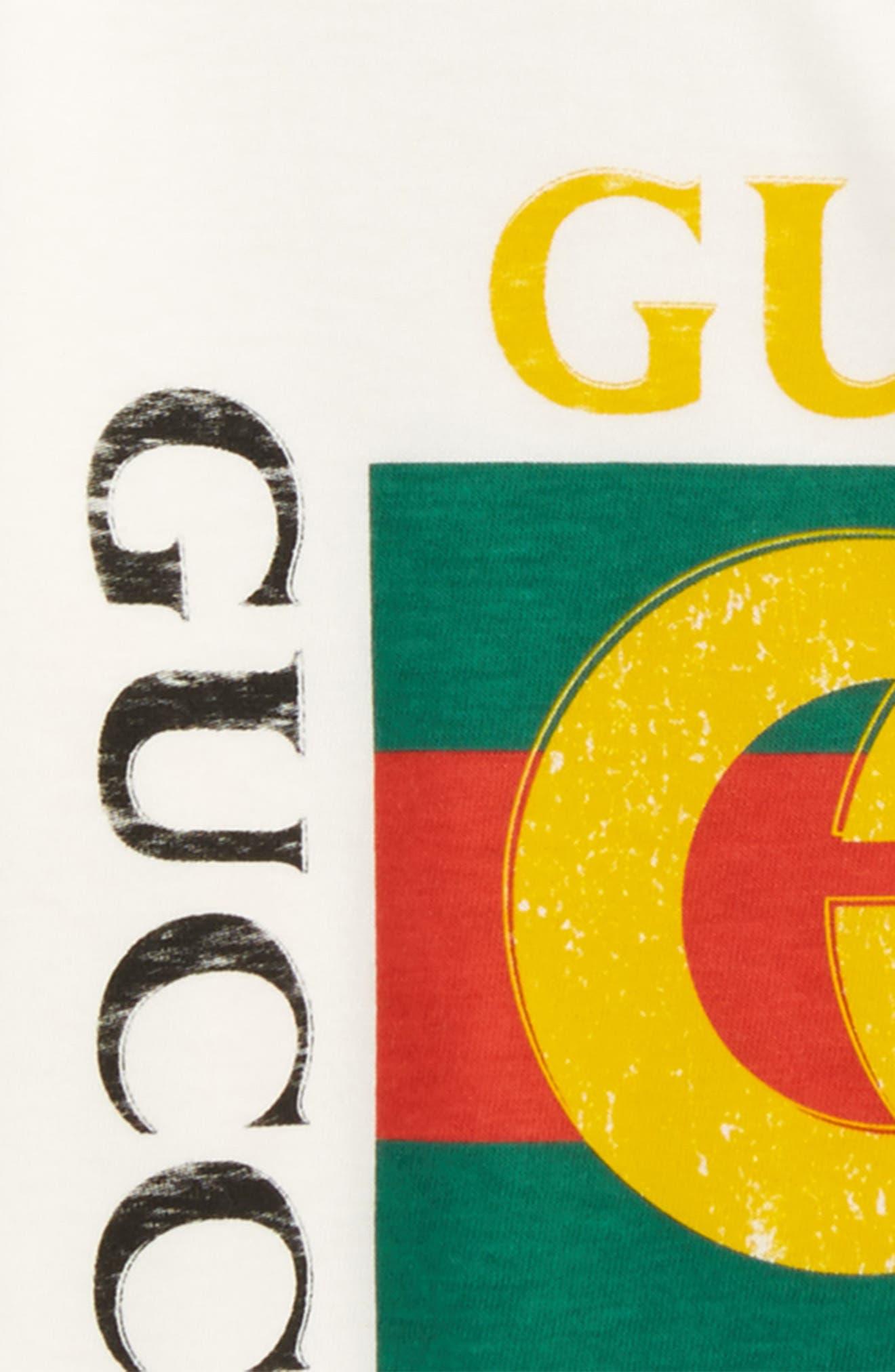 Logo Graphic T-Shirt,                             Alternate thumbnail 3, color,                             White Multi