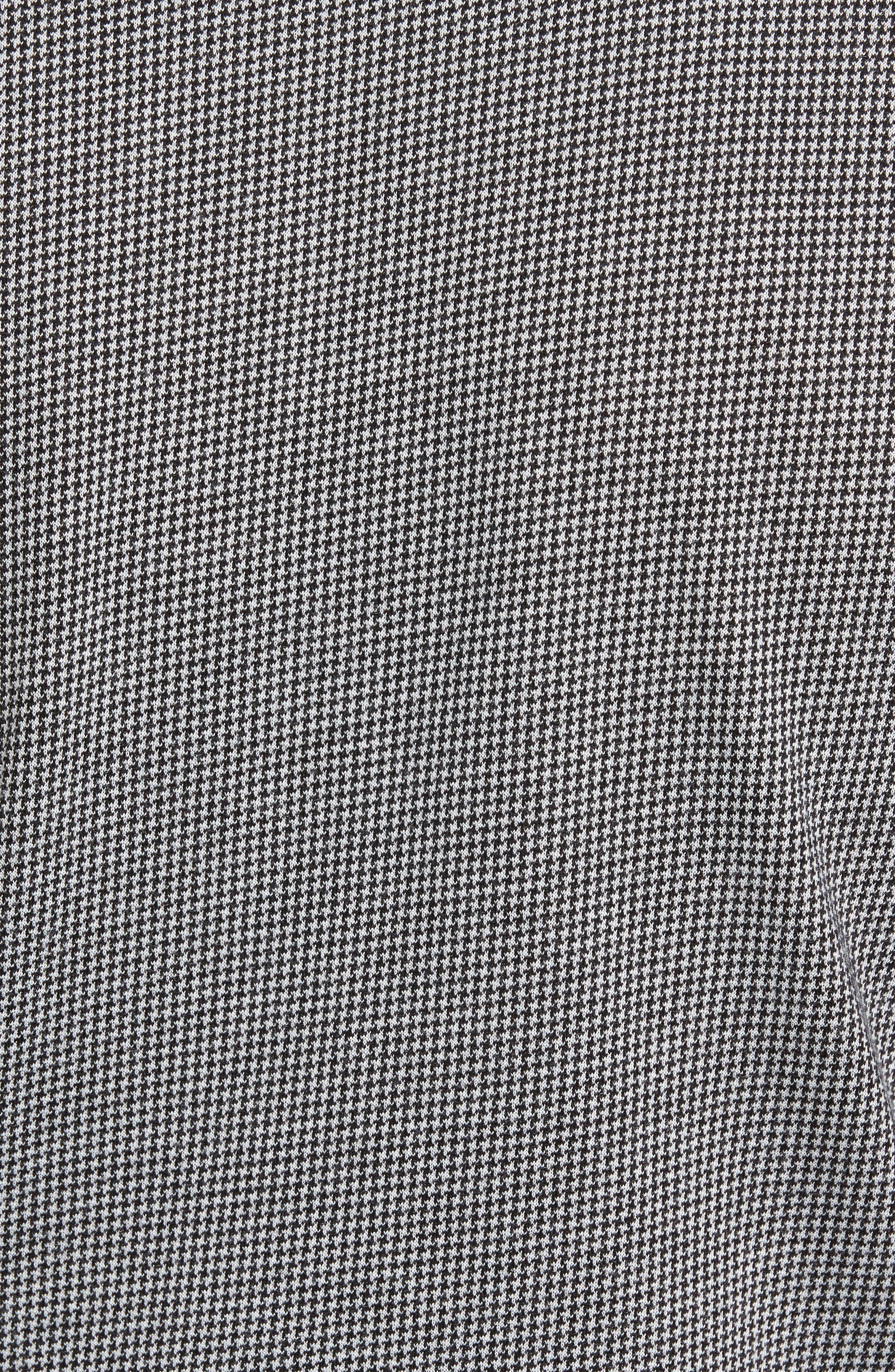 Lawrence Houndstooth Polo,                             Alternate thumbnail 5, color,                             Black/ Microchip