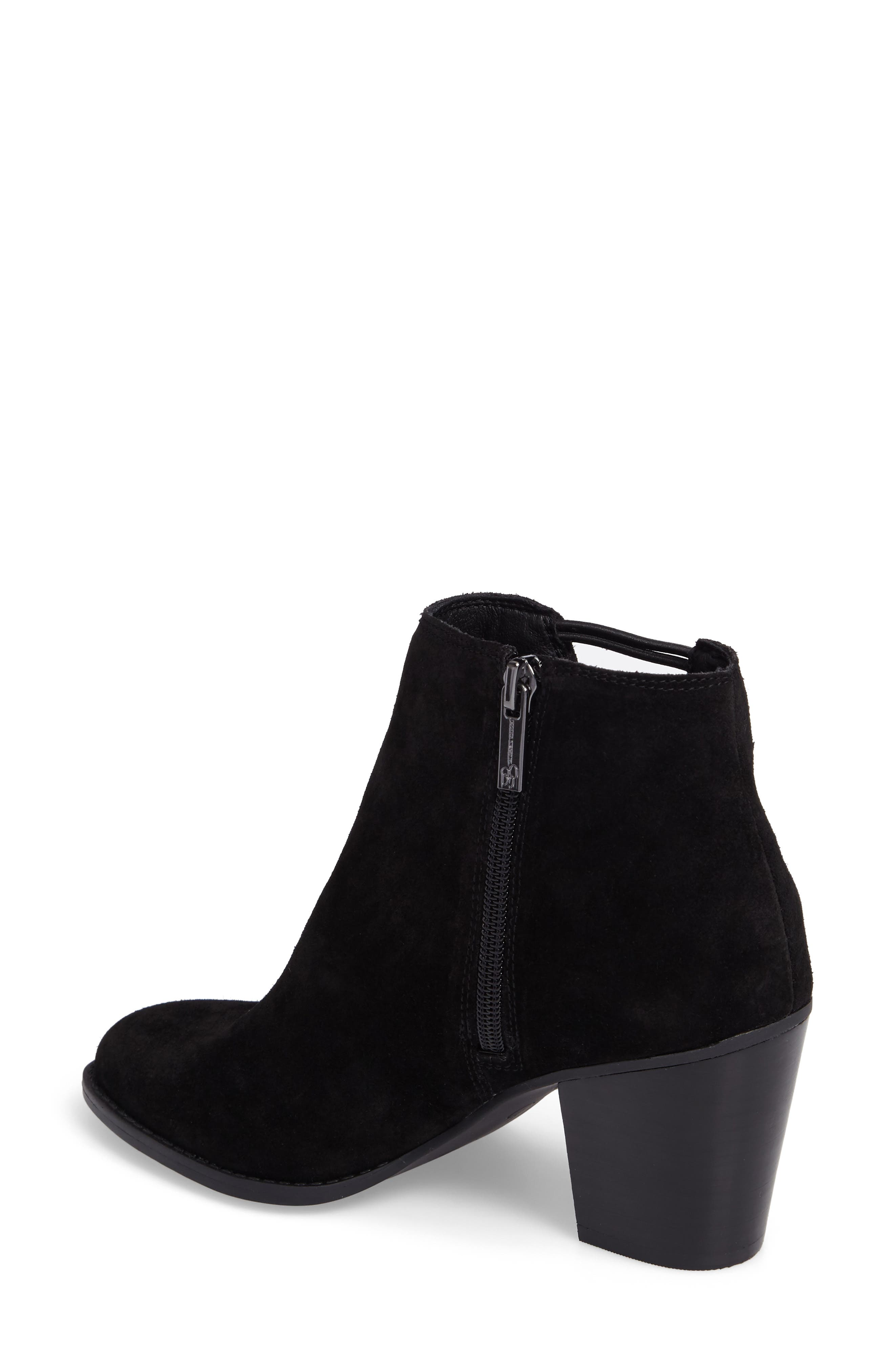 Yasma Bootie,                             Alternate thumbnail 2, color,                             Black Suede
