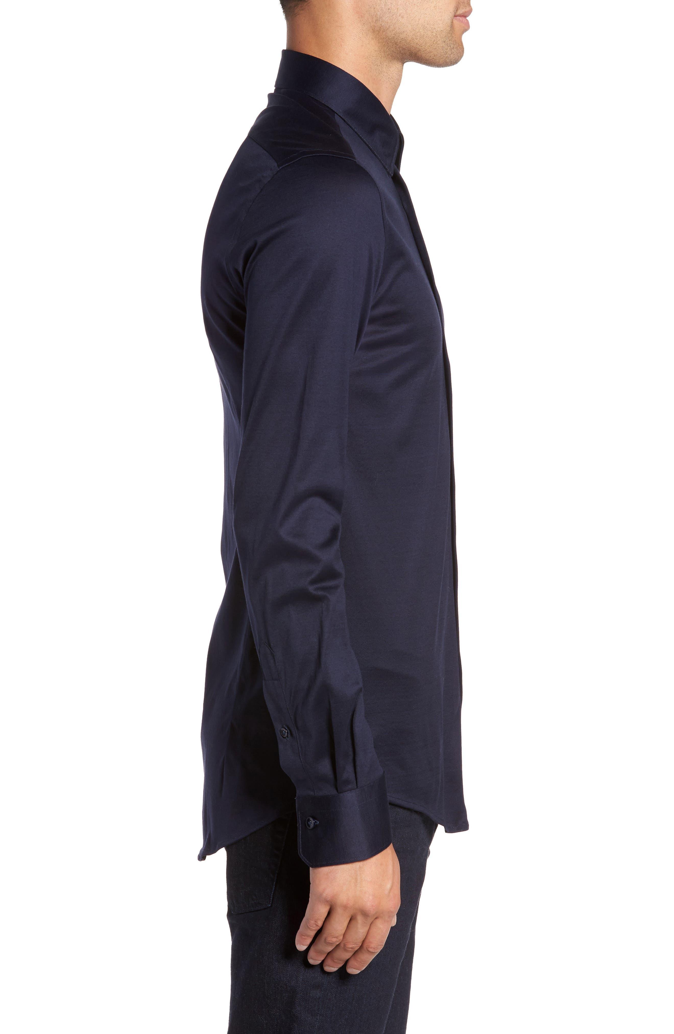 Alternate Image 3  - Pal Zileri Jersey Sport Shirt
