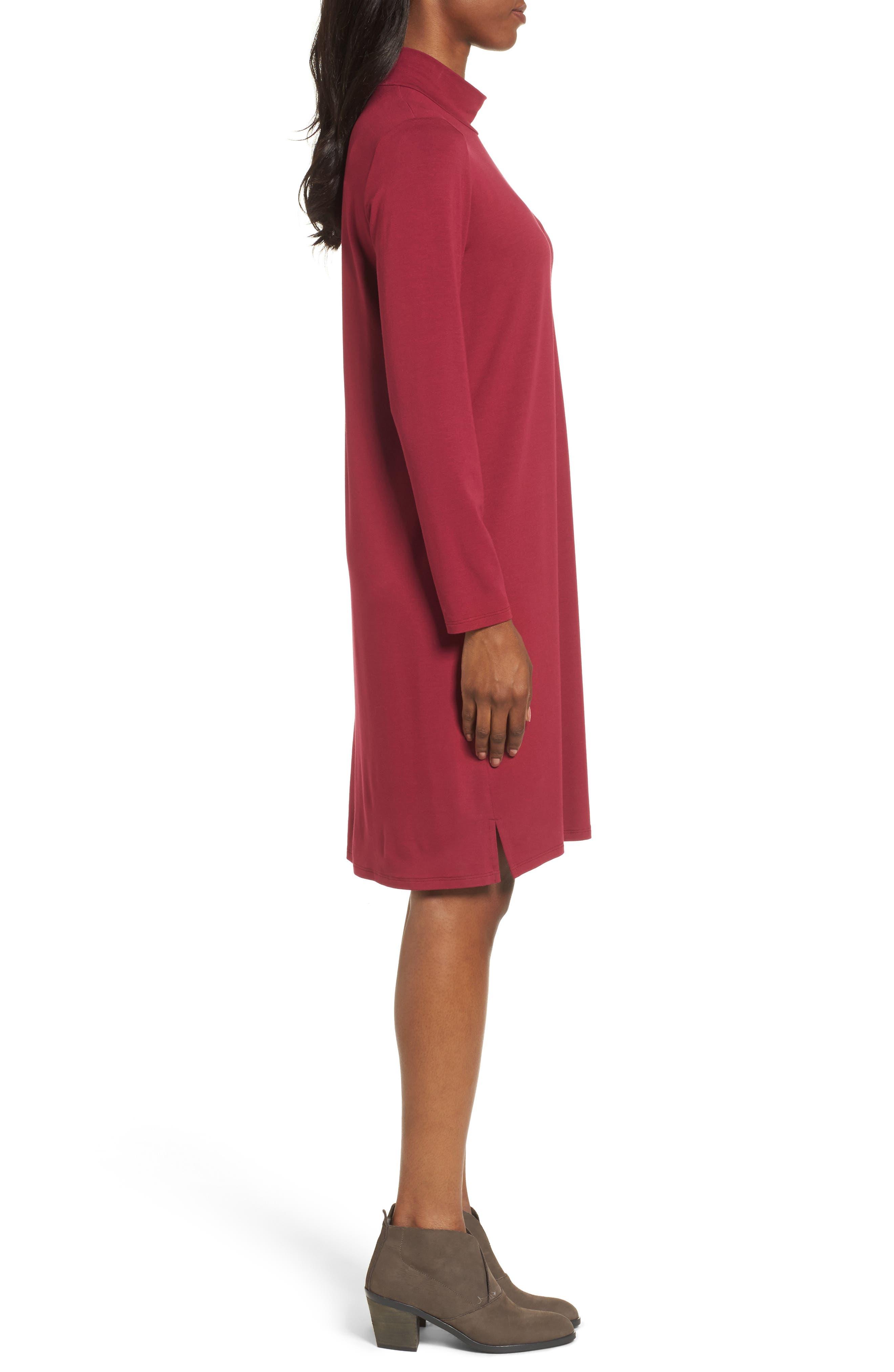 Alternate Image 3  - Eileen Fisher Mock Neck Shift Dress