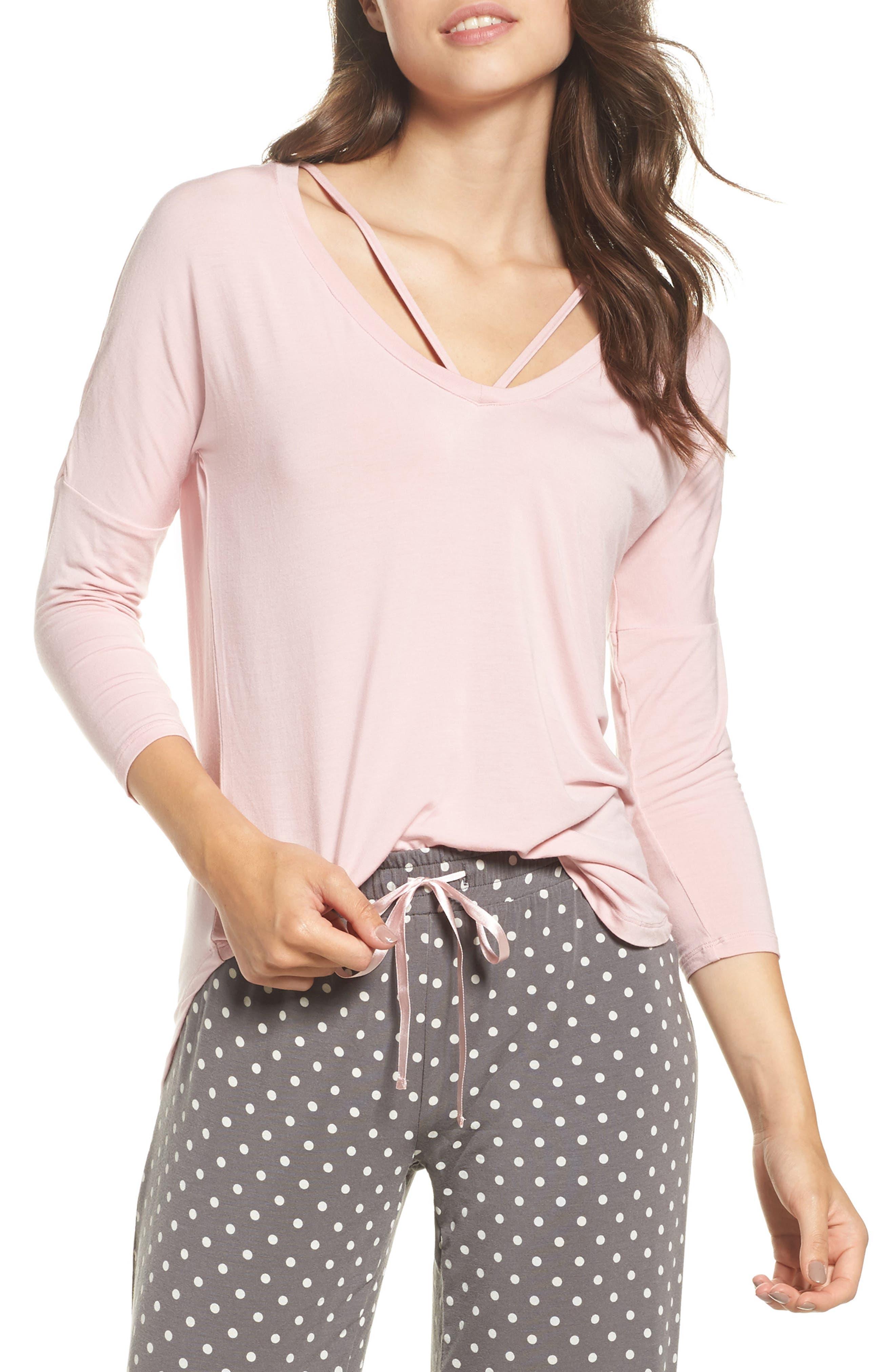 Long Sleeve Top,                         Main,                         color, Blush