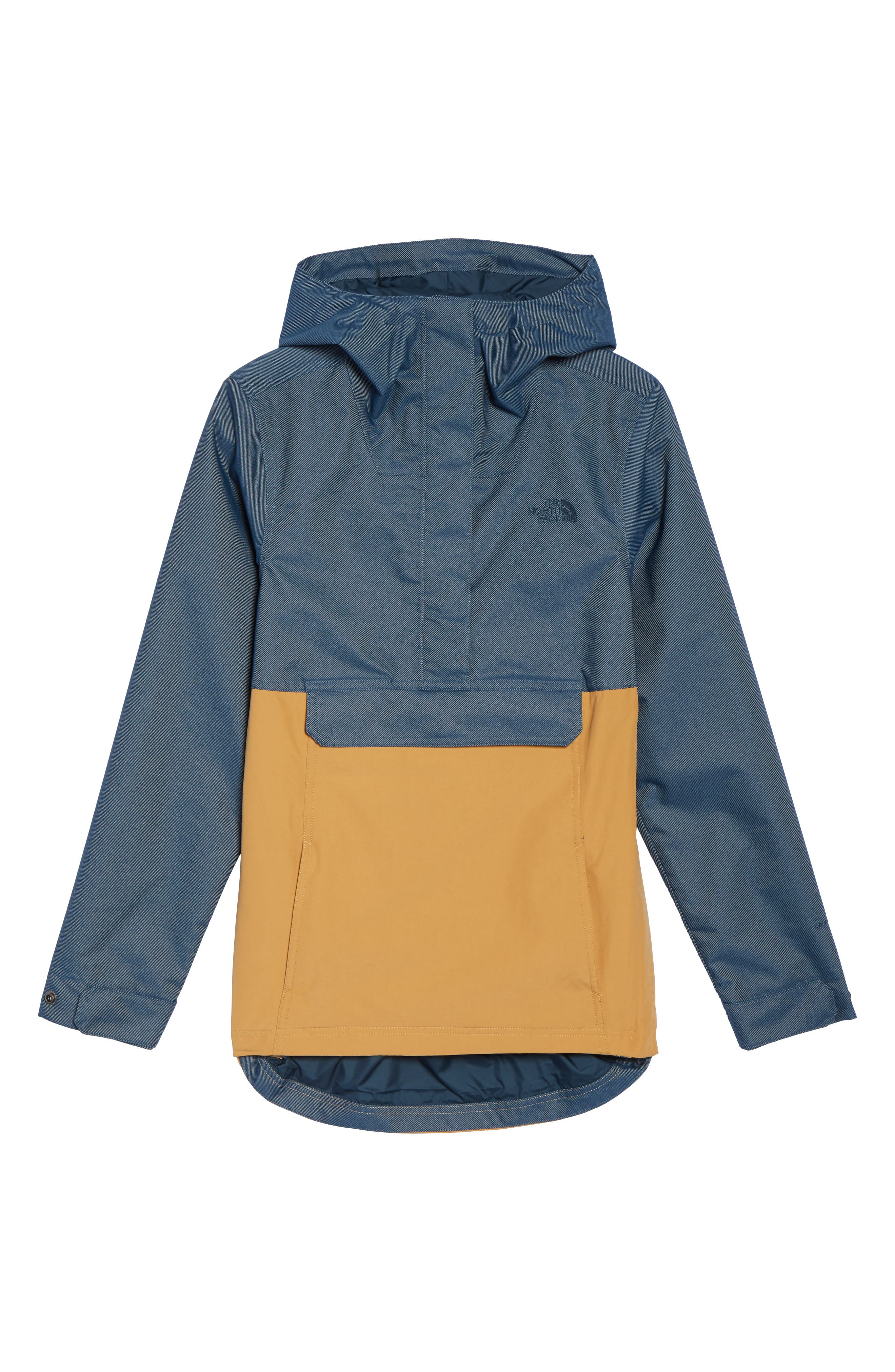 Cadet Anorak Rain Jacket,                             Alternate thumbnail 6, color,                             Biscuit Tan Ink Blue
