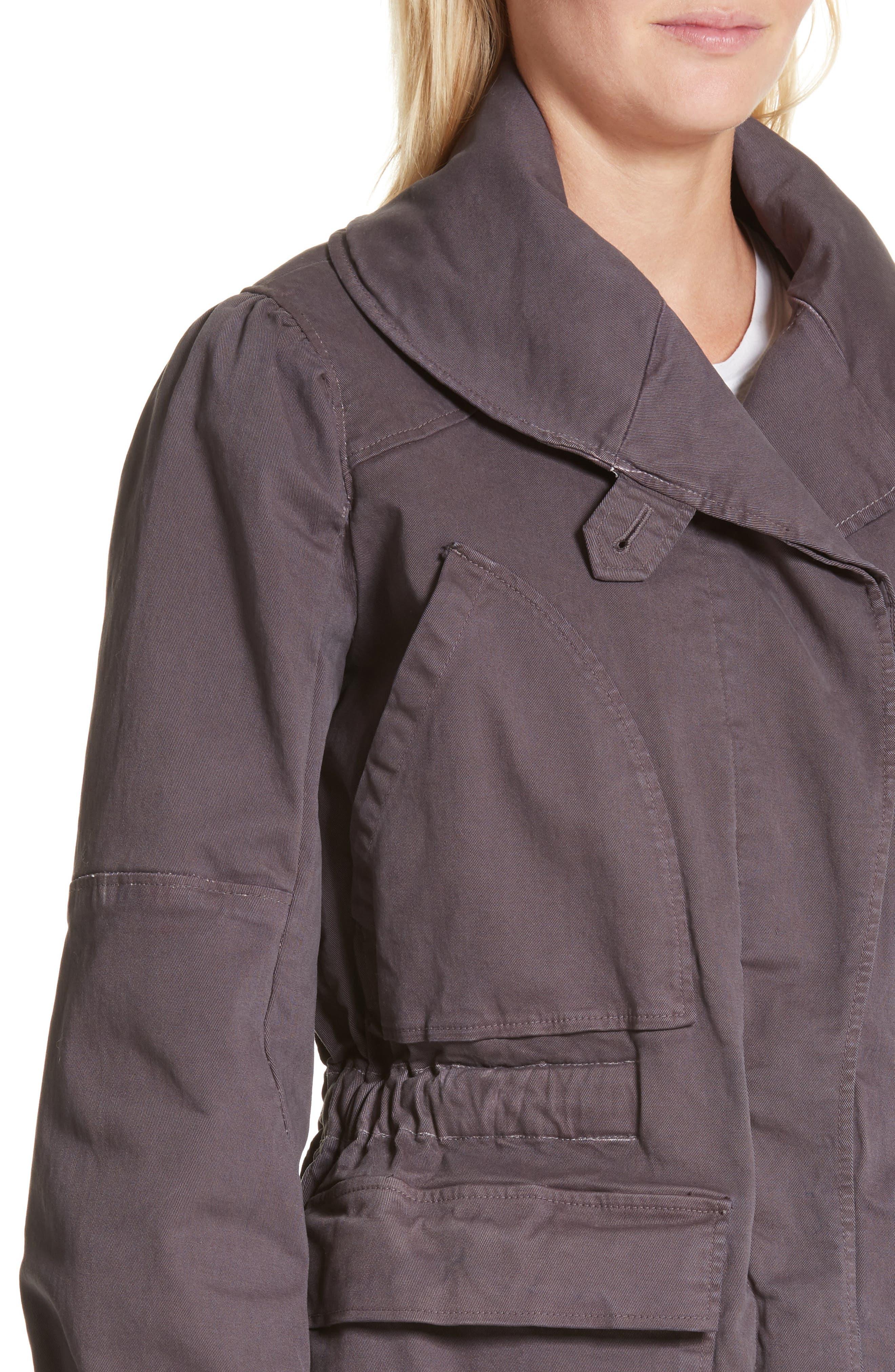 Twill Utility Jacket,                             Alternate thumbnail 4, color,                             Shadow