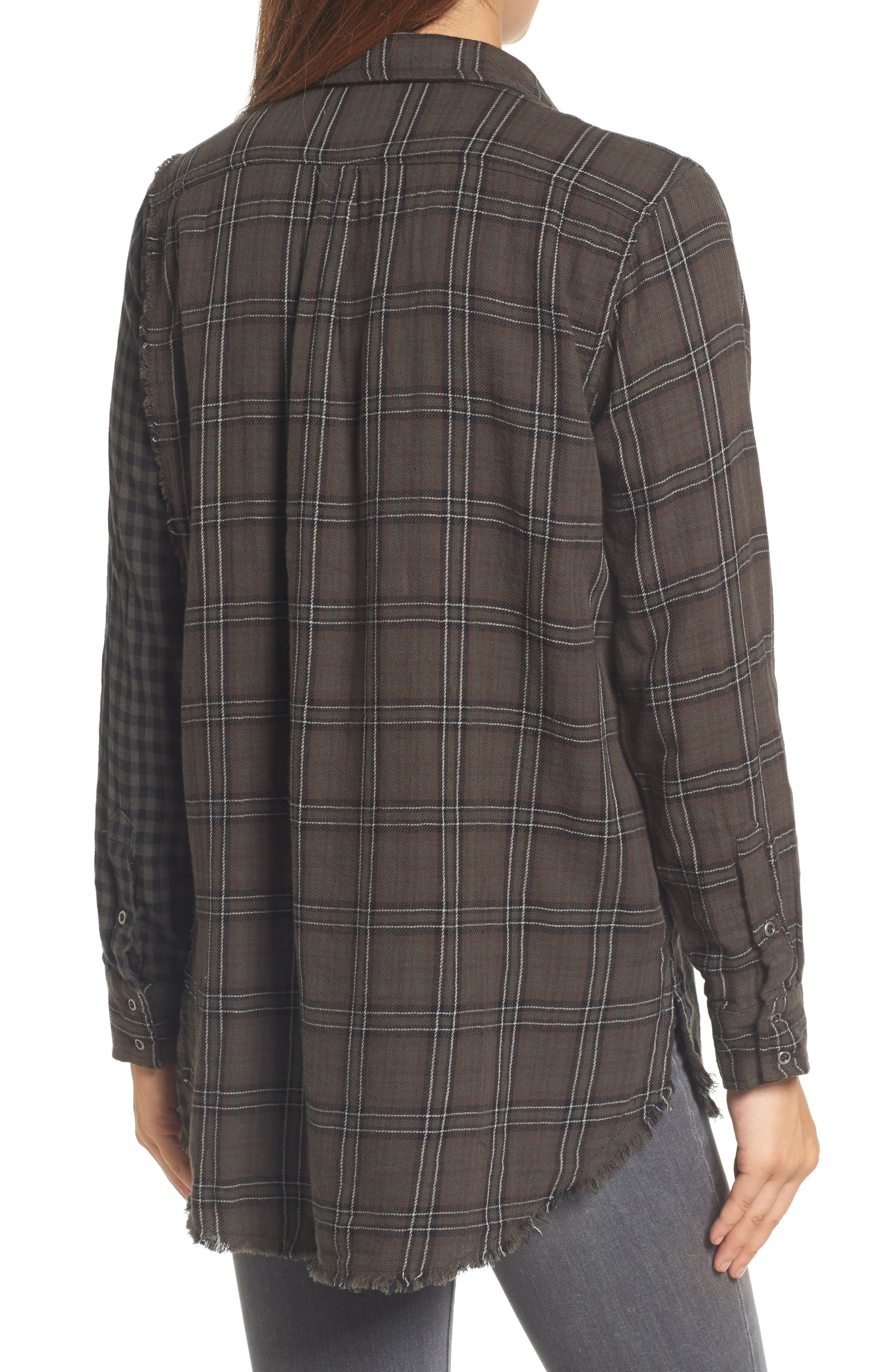 Alternate Image 2  - Wit & Wisdom Contrast Sleeve Button-Down Top (Nordstrom Exclusive)