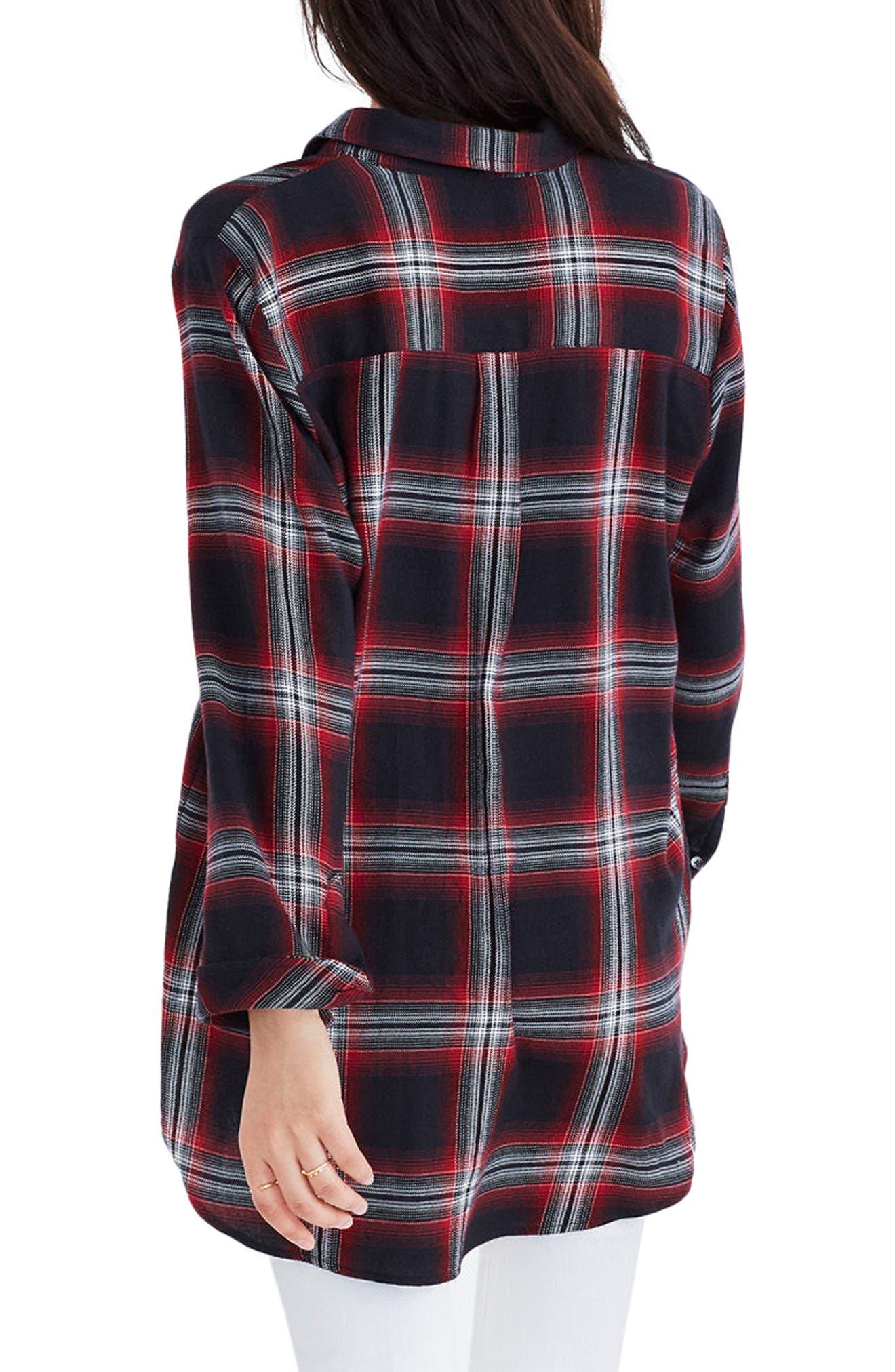 Classic Ex-Boyfriend Shirt,                             Alternate thumbnail 2, color,                             Grunge Plaid True Black