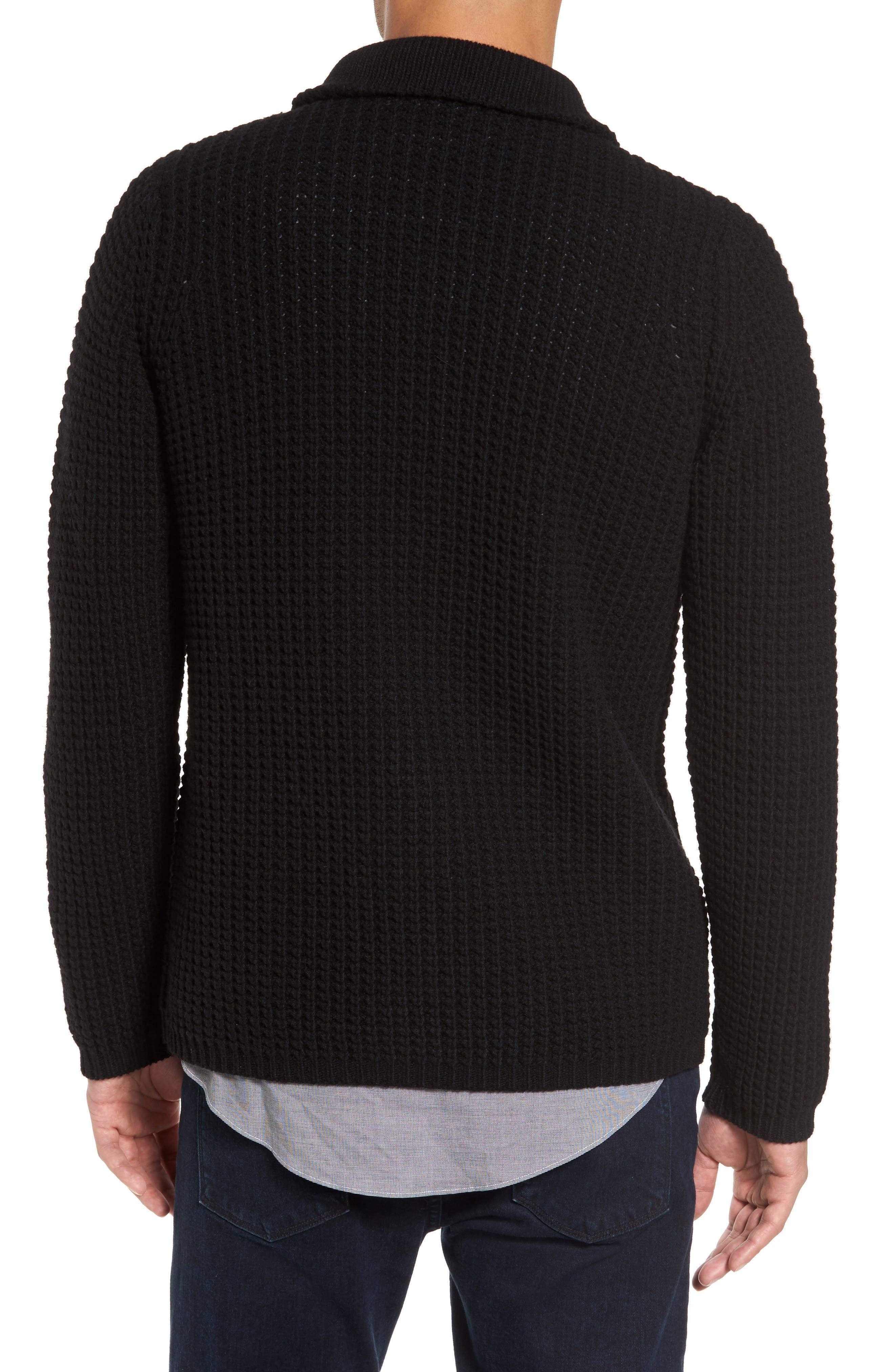 Alternate Image 2  - Sand Trim Fit Knit Cardigan Jacket