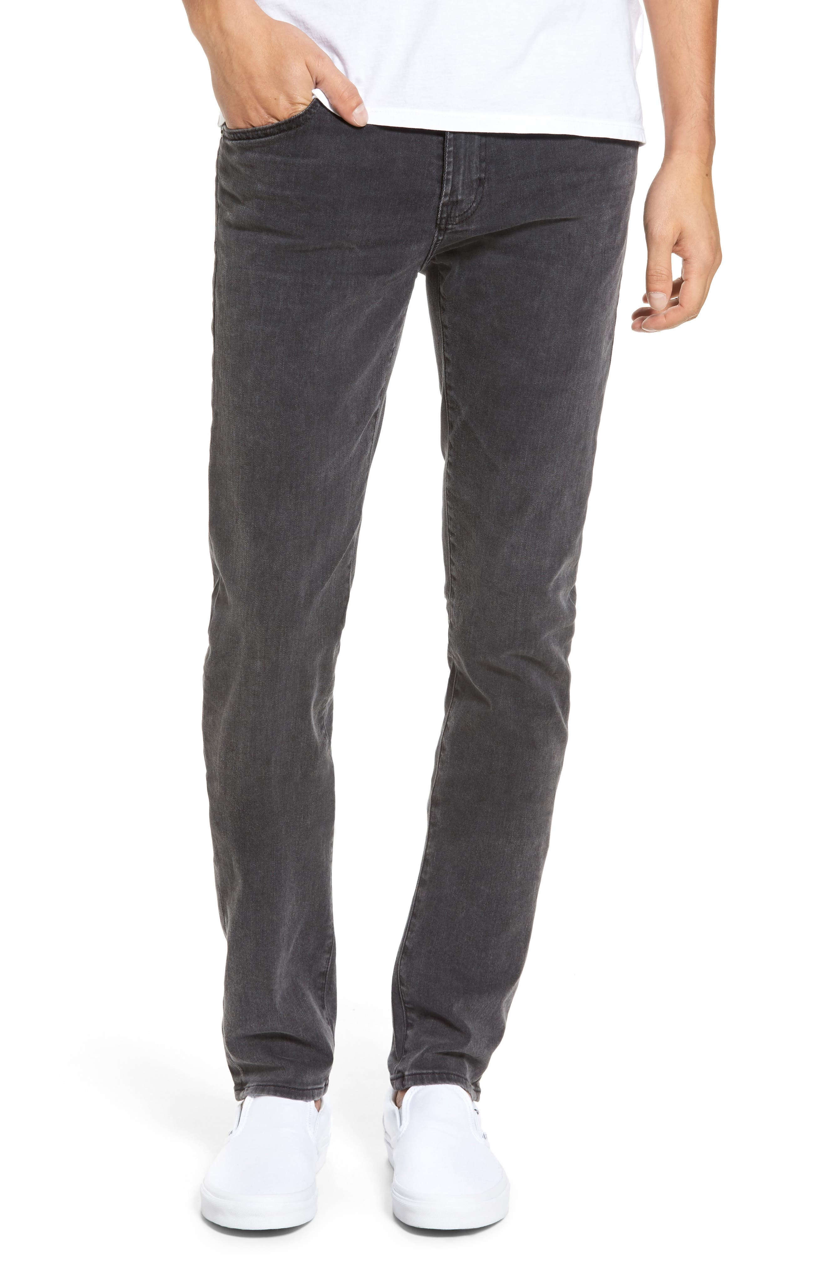 Main Image - AG Stockton Skinny Fit Jeans (10 Years Black Dunes)