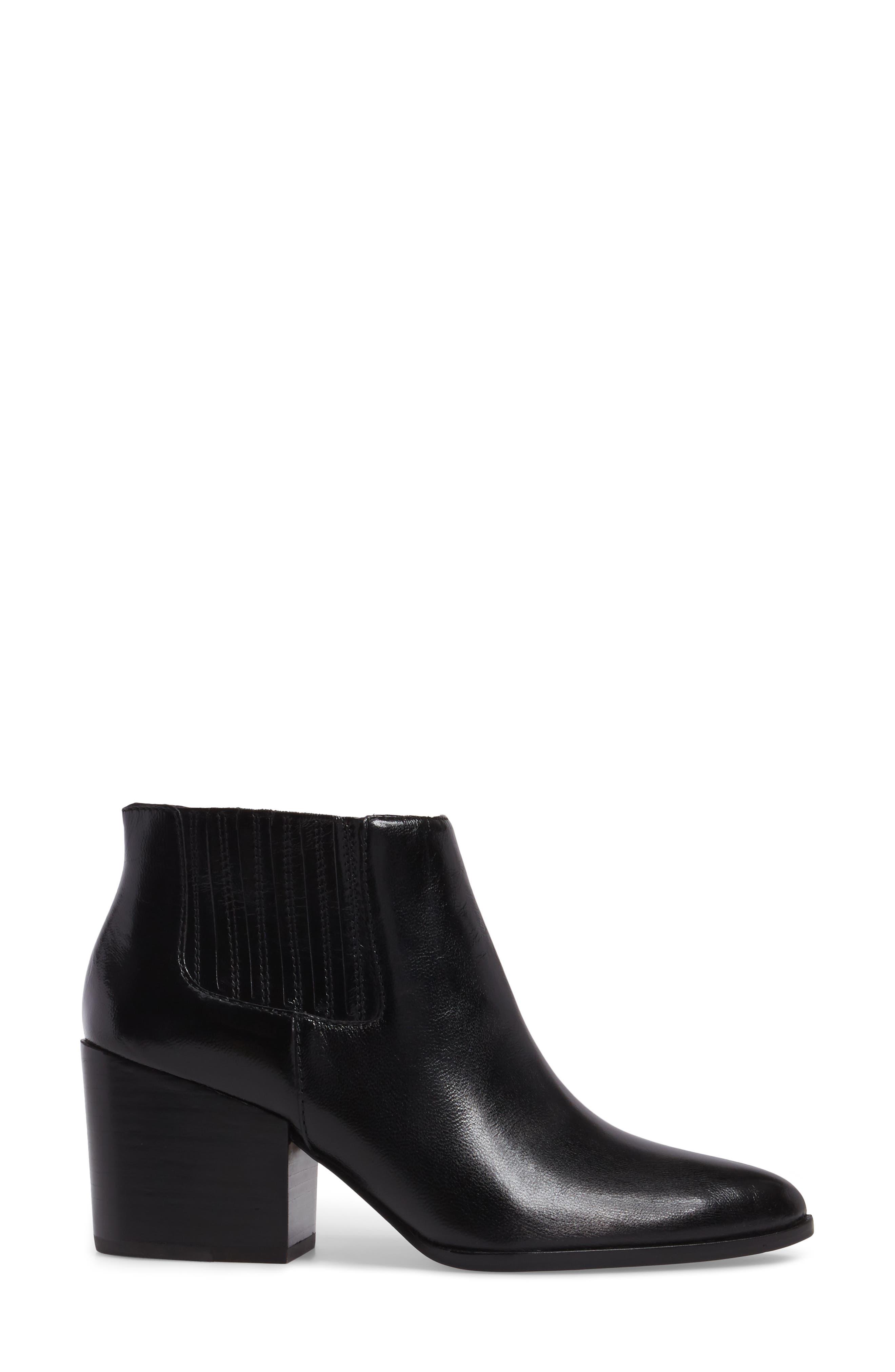 Jemore Boot,                             Alternate thumbnail 3, color,                             Black Leather