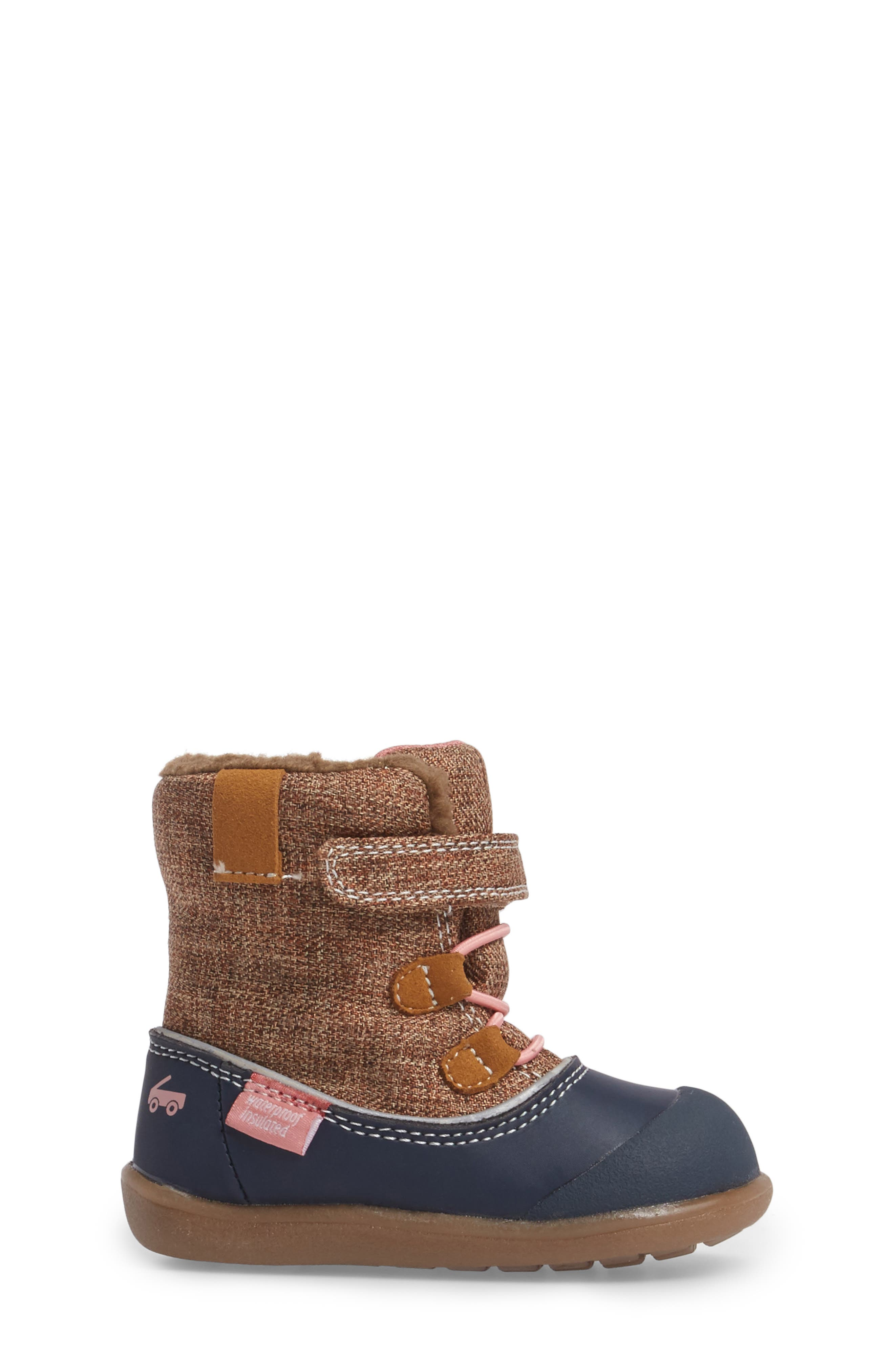 'Abby' Waterproof Boot,                             Alternate thumbnail 3, color,                             Brown