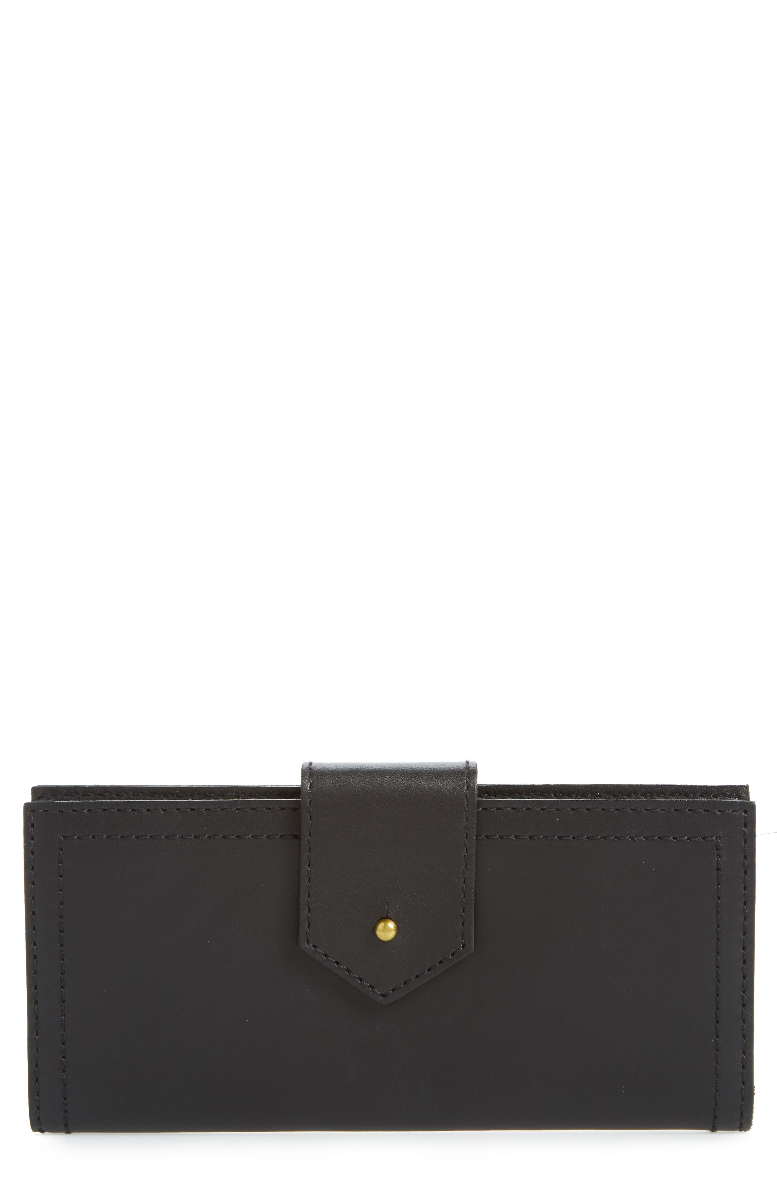 The Post Leather Wallet,                             Main thumbnail 1, color,                             True Black