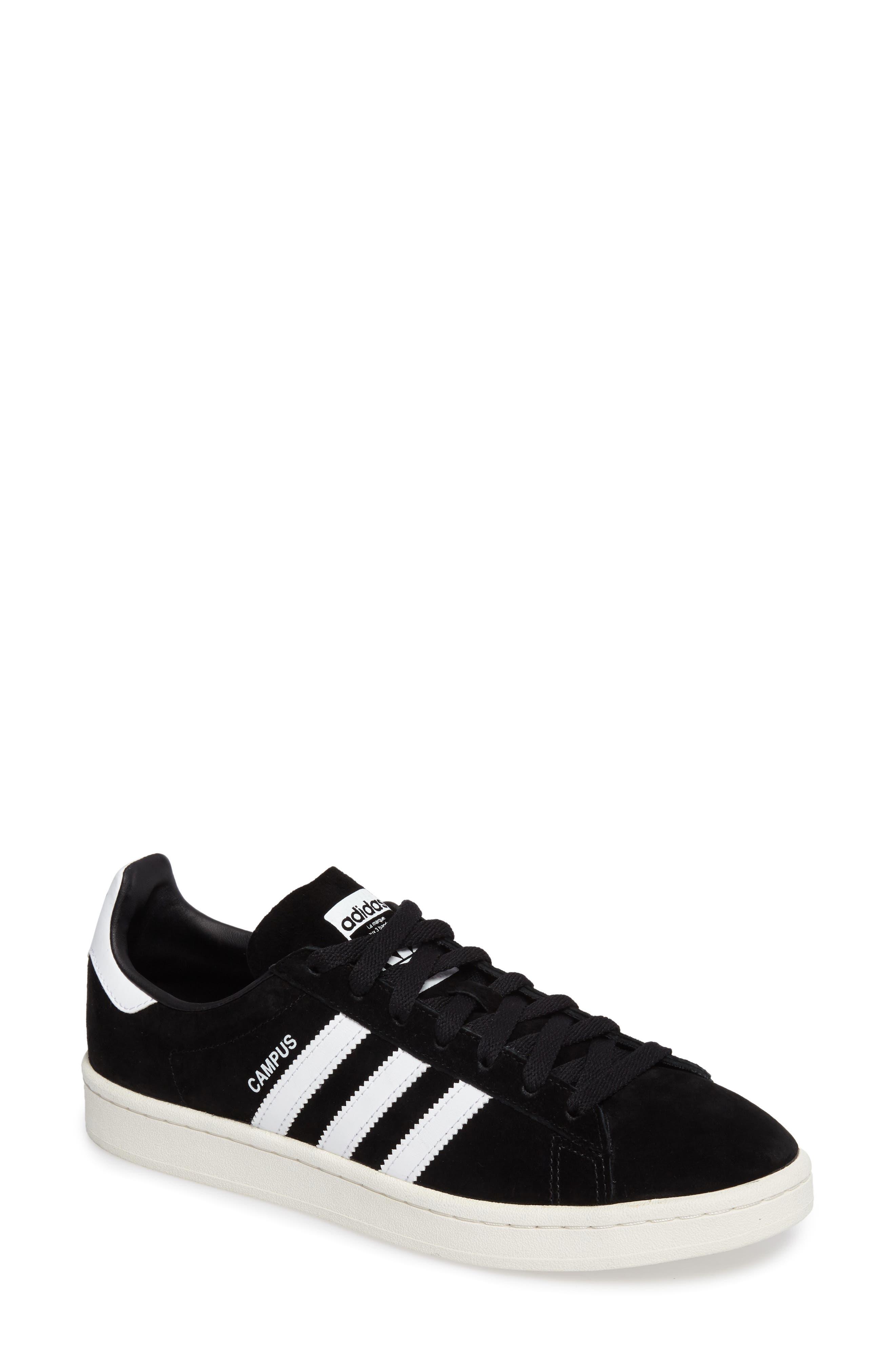 'Campus' Sneaker,                             Main thumbnail 1, color,                             Core Black/ White