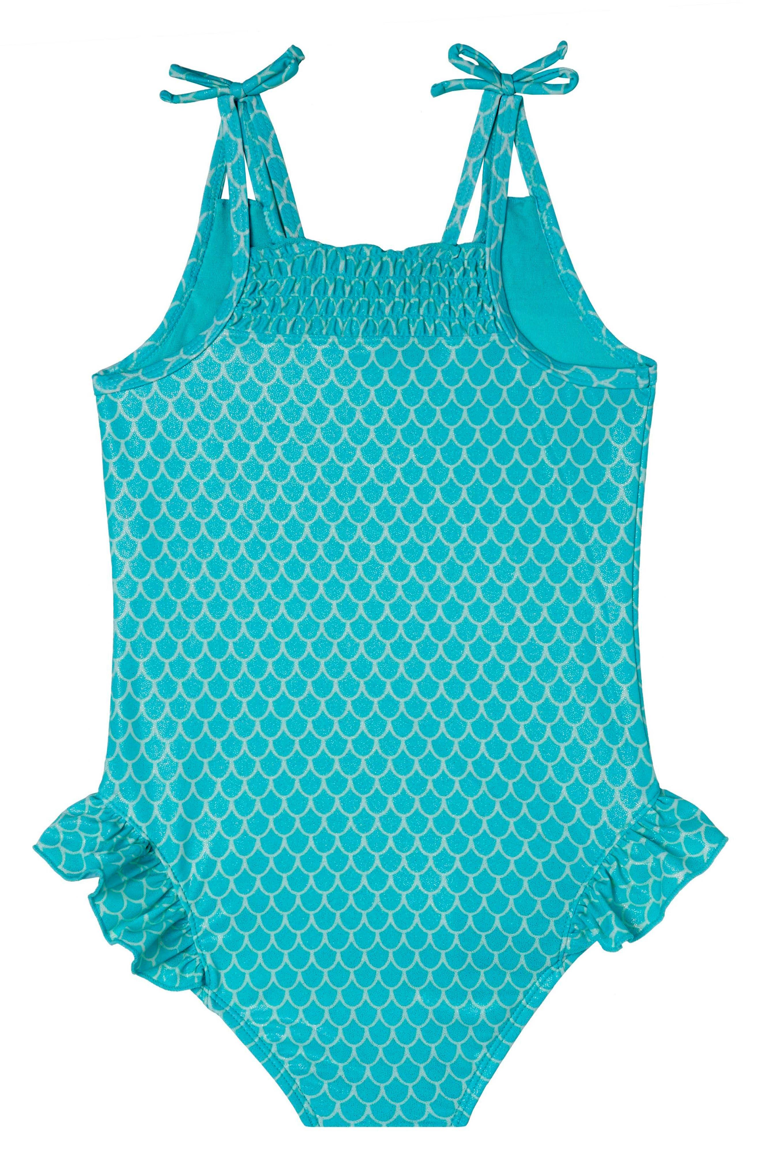 Alternate Image 2  - Hula Star Mermaid Princess One-Piece Swimsuit (Toddler Girls & Little Girls)