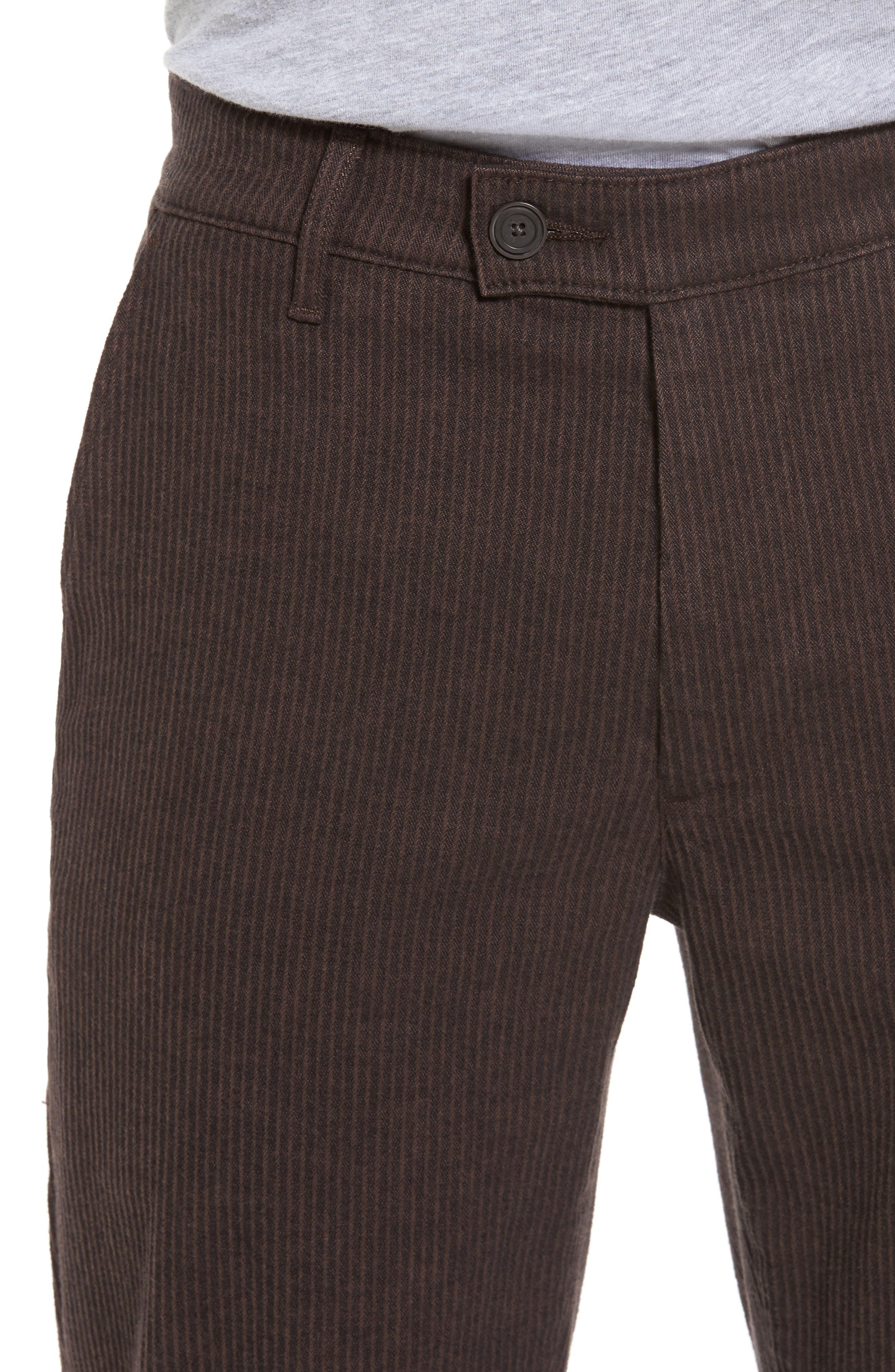 Marshall Slim Fit Pinstripe Pants,                             Alternate thumbnail 4, color,                             Dark Oakwood