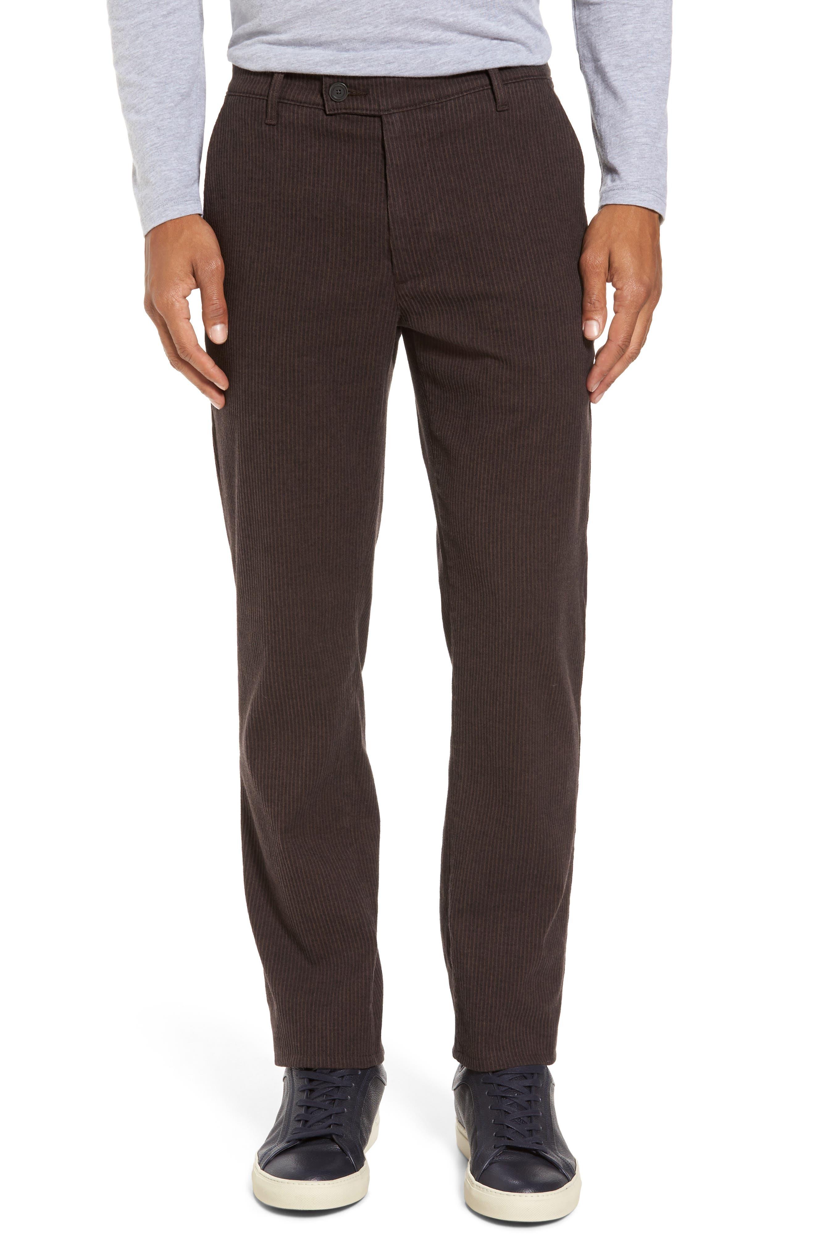 Marshall Slim Fit Pinstripe Pants,                         Main,                         color, Dark Oakwood