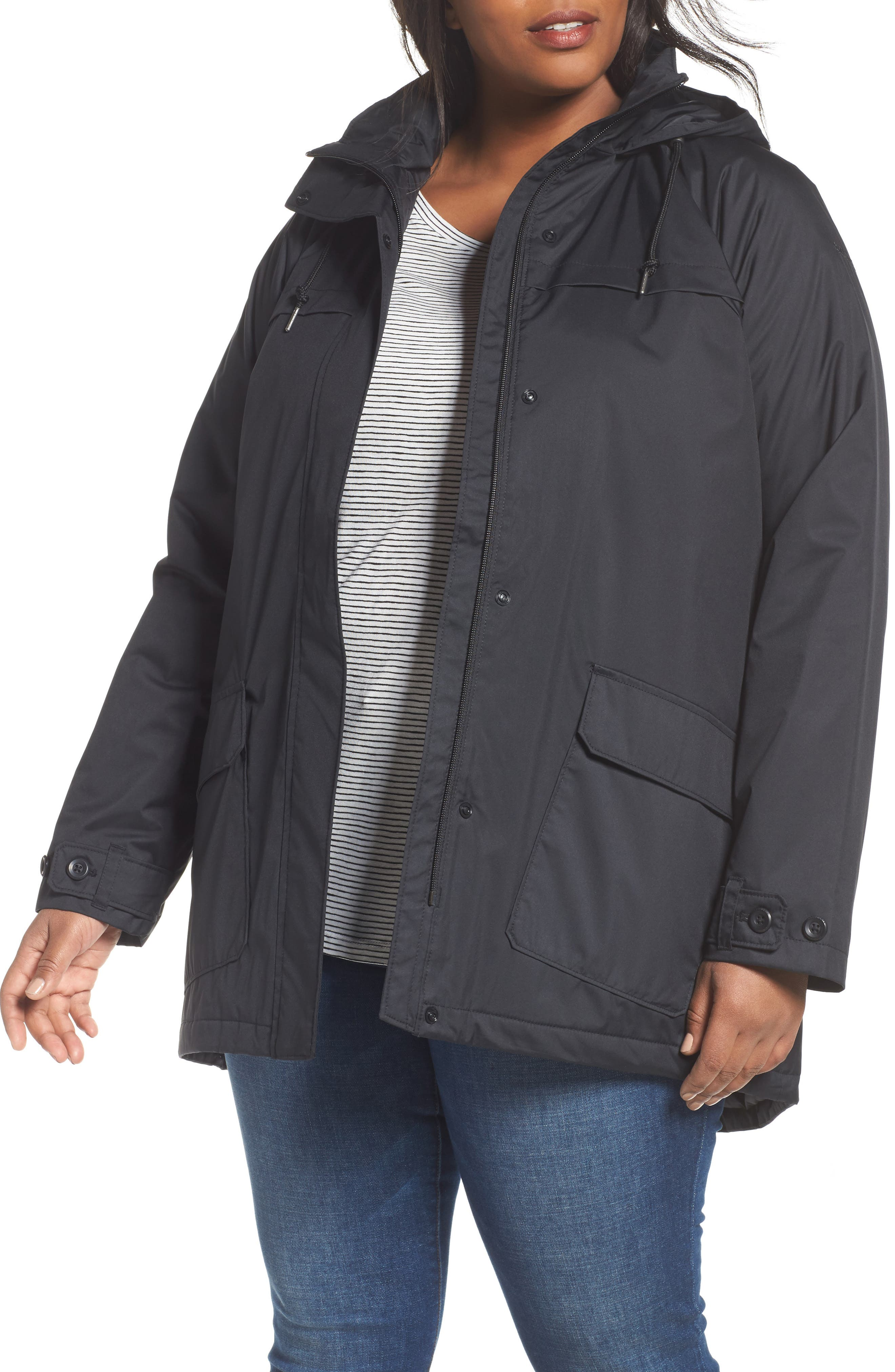 Lookout Crest Omni-Tech Waterproof Jacket,                         Main,                         color, Black