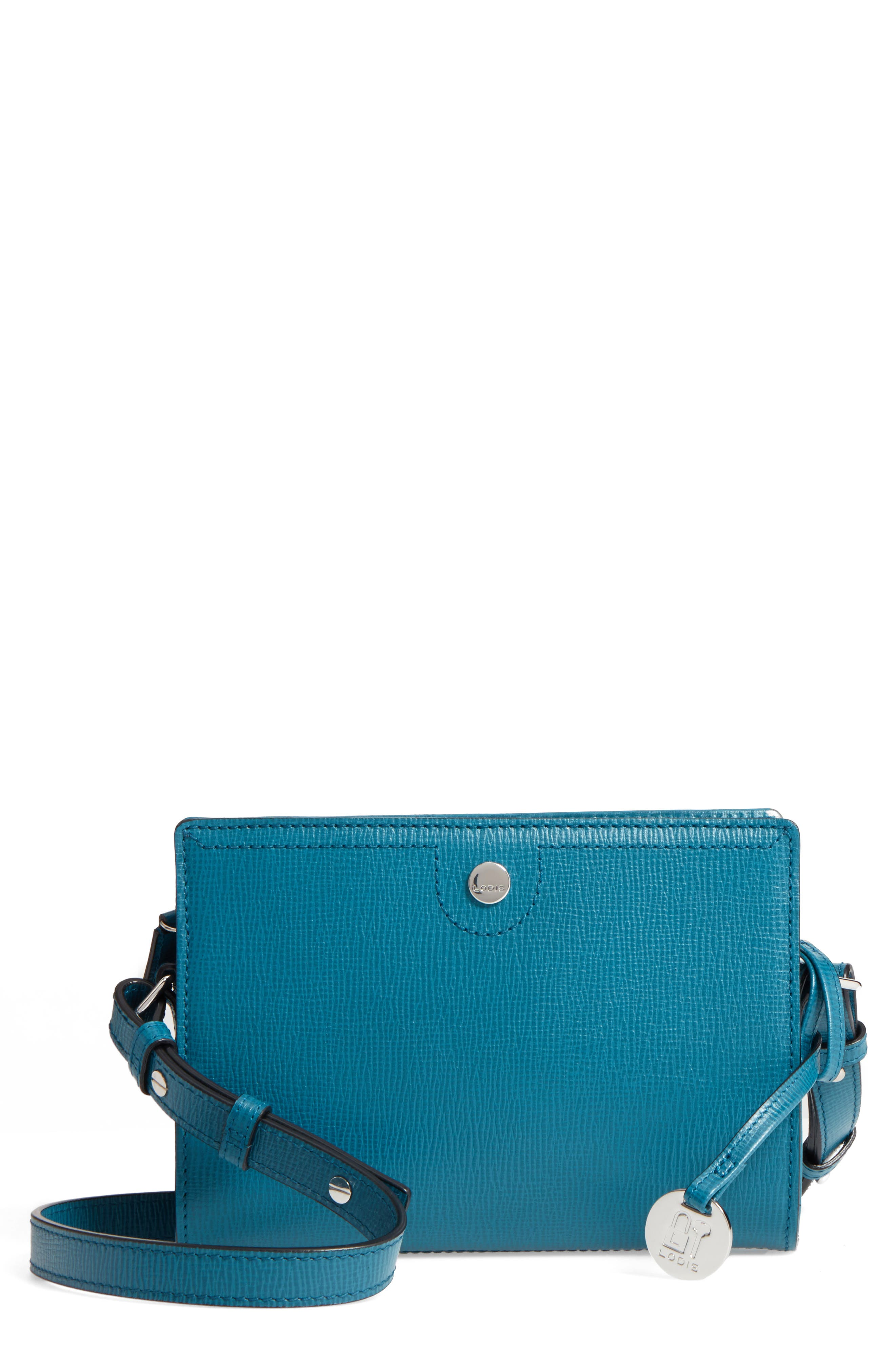 Alternate Image 1 Selected - LODIS Los Angeles Business Chic Pheobe RFID-Protected Leather Crossbody Bag