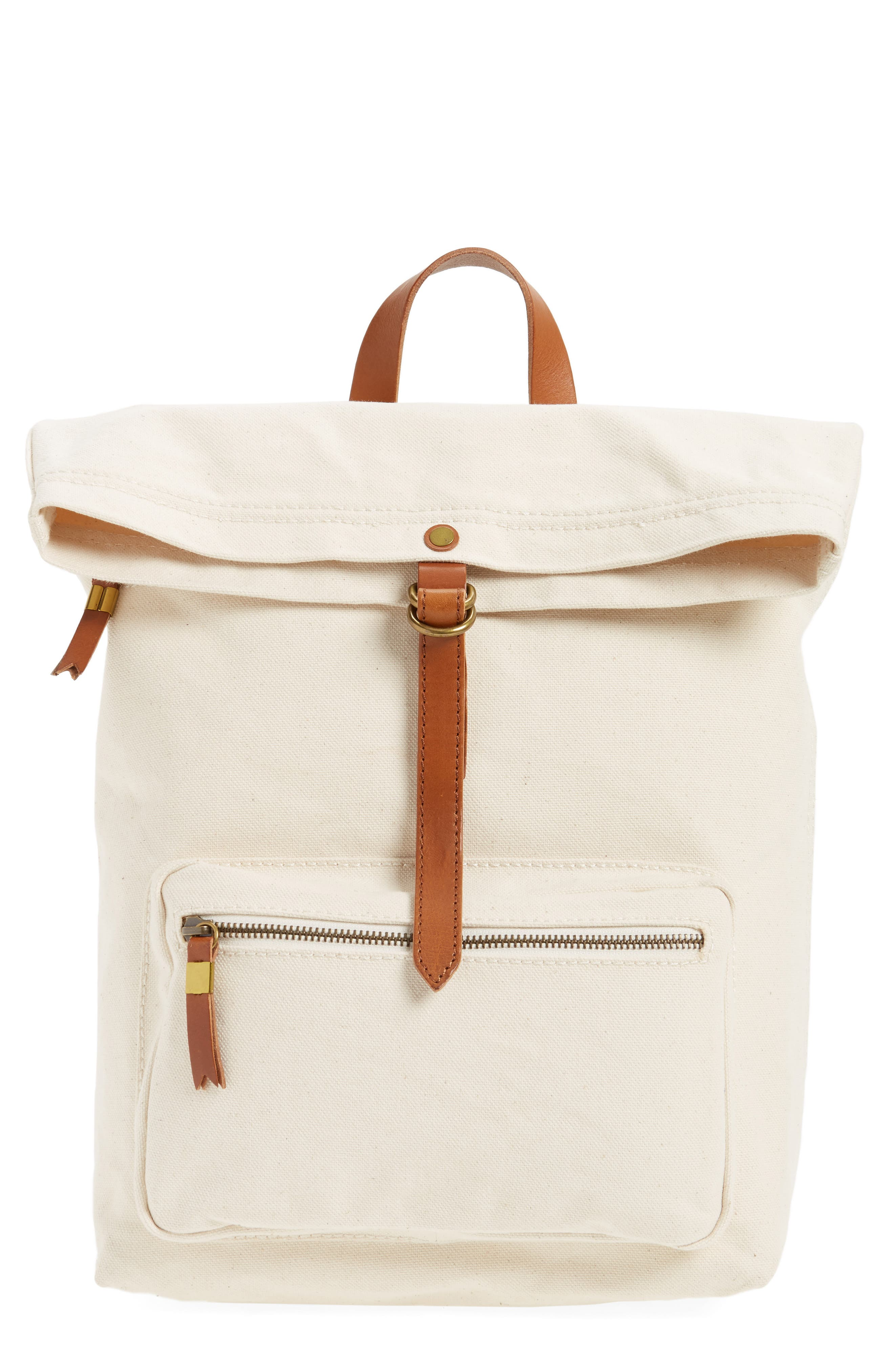 The Canvas Foldover Backpack,                         Main,                         color, Vintage Canvas