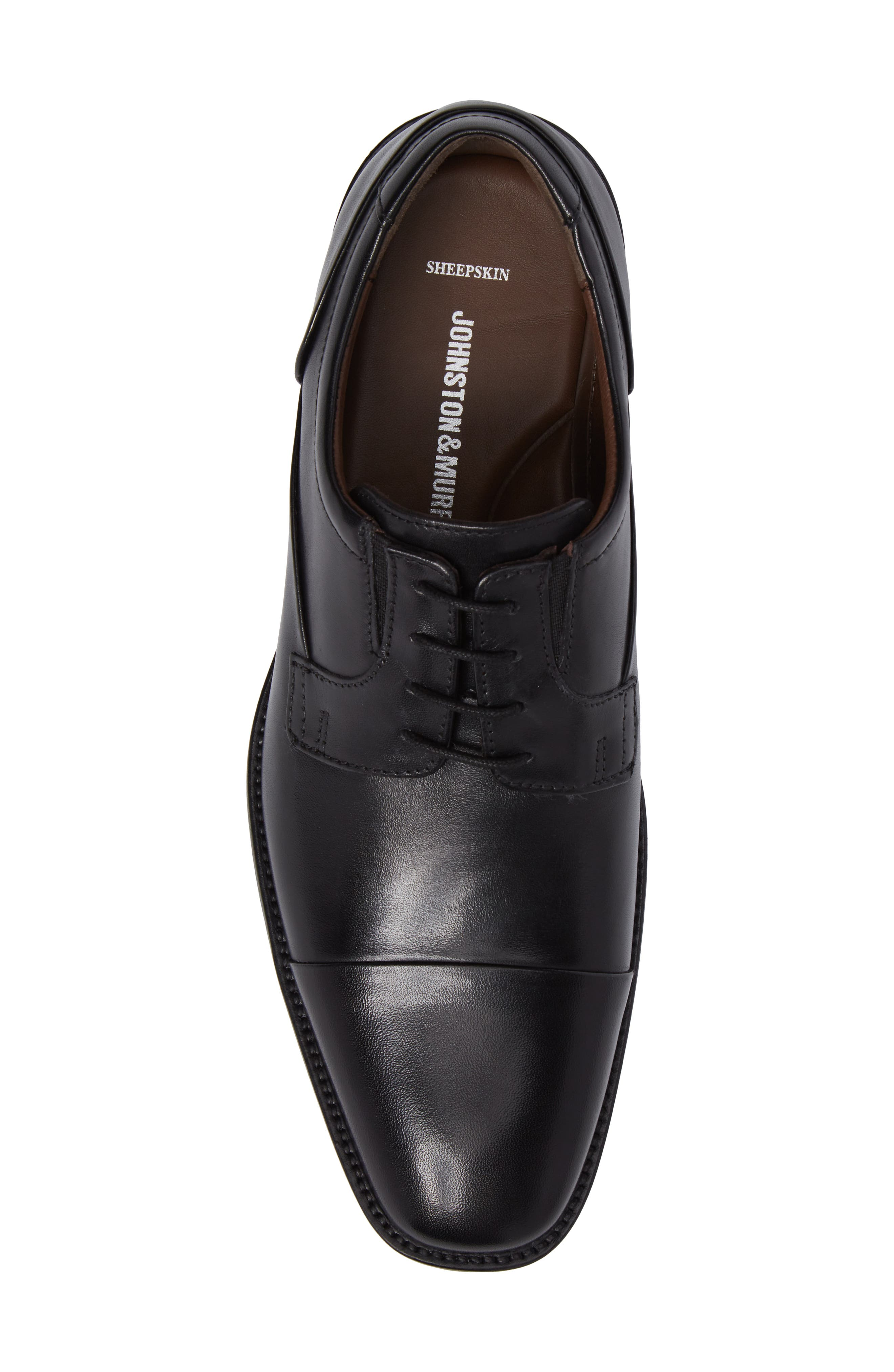 Lancaster Cap Toe Derby,                             Alternate thumbnail 5, color,                             Black