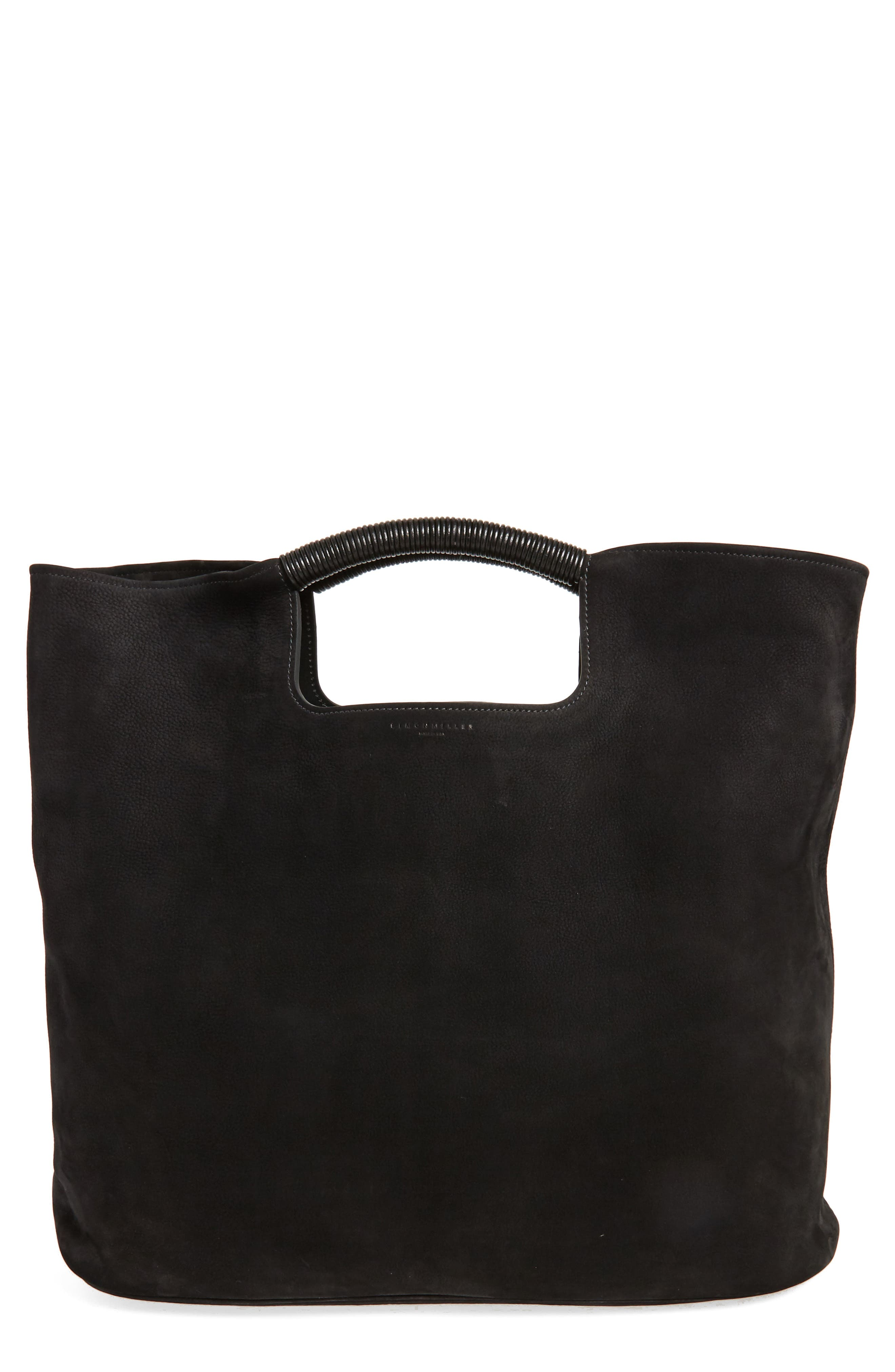 Birch Nubuck Tote,                         Main,                         color, Black