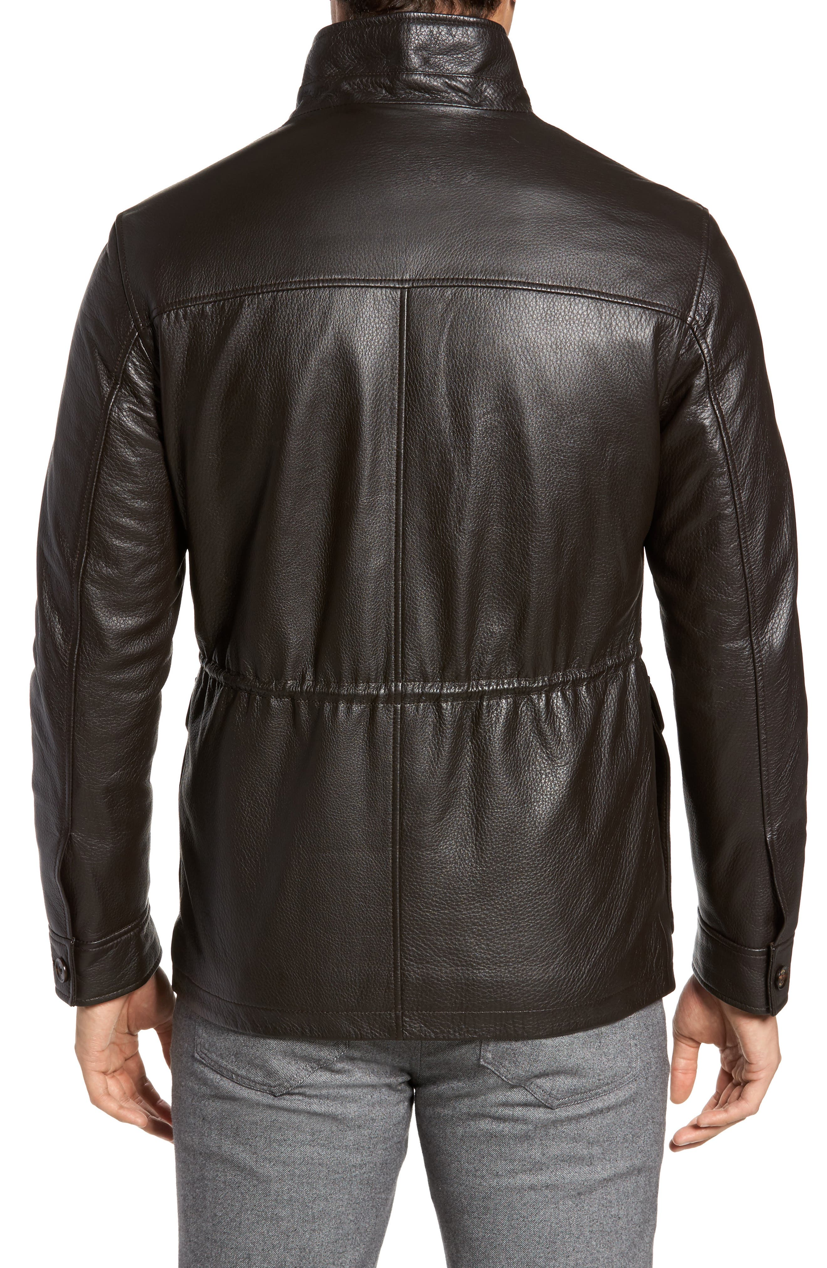 Woodland Discovery Deerskin Leather Jacket,                             Alternate thumbnail 2, color,                             Espresso