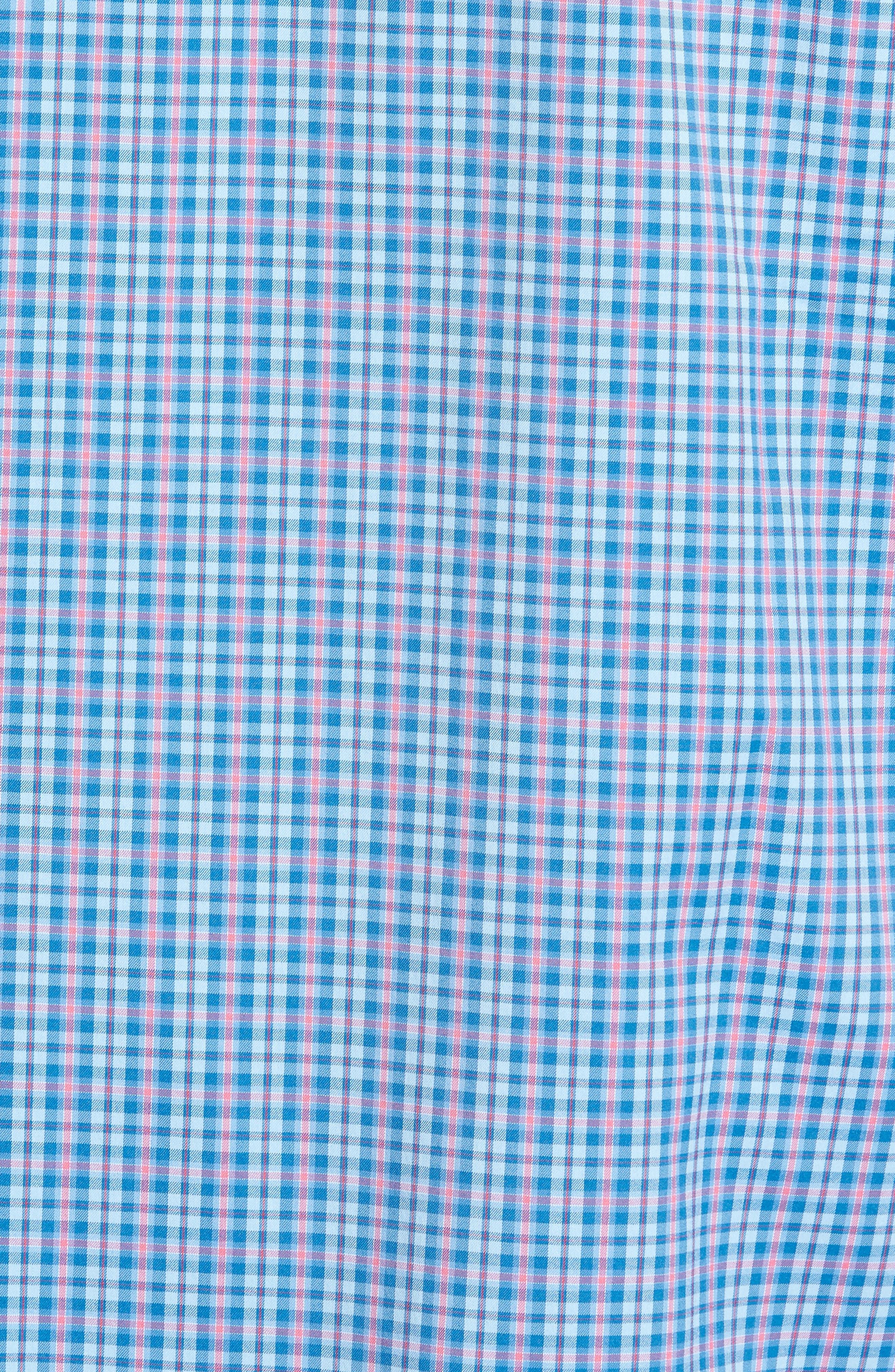 Intercoastal Regular Fit Bayview Plaid Performance Sport Shirt,                             Alternate thumbnail 5, color,                             Sky Blue