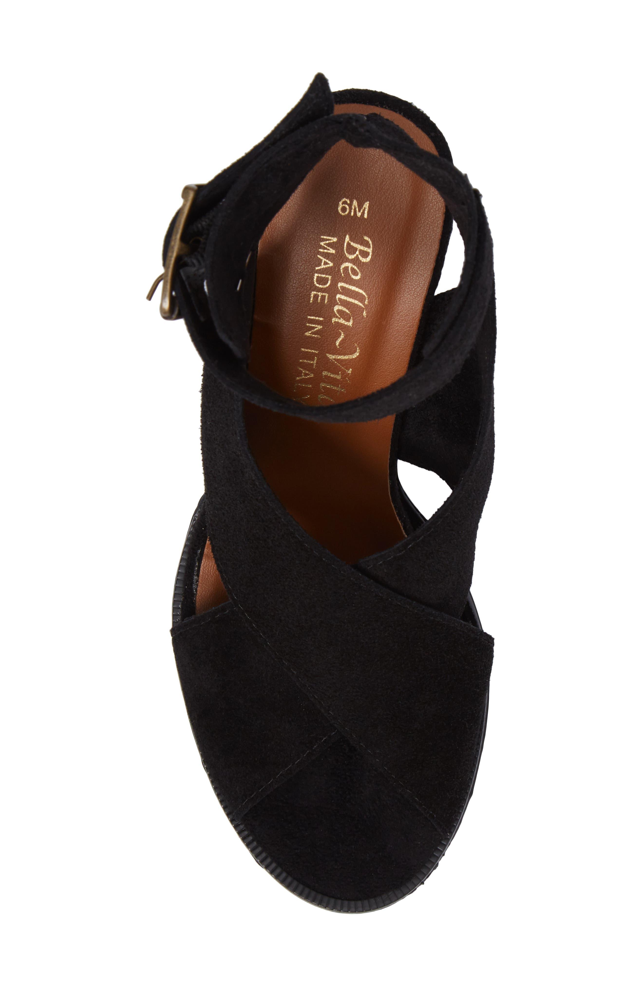 Lil Ankle Wrap Sandal,                             Alternate thumbnail 5, color,                             Black Suede