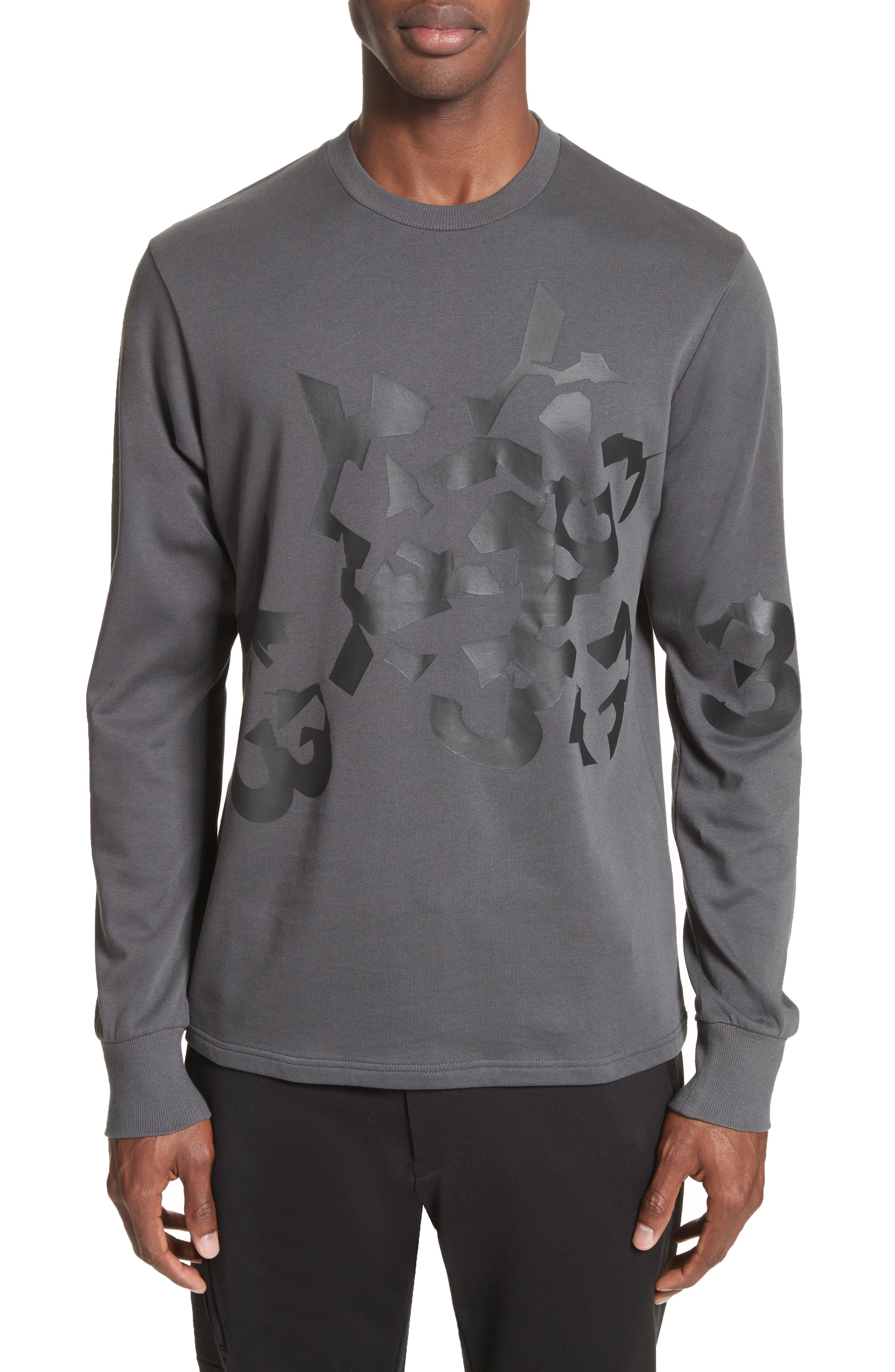 Y-3 Graphic Long Sleeve T-Shirt