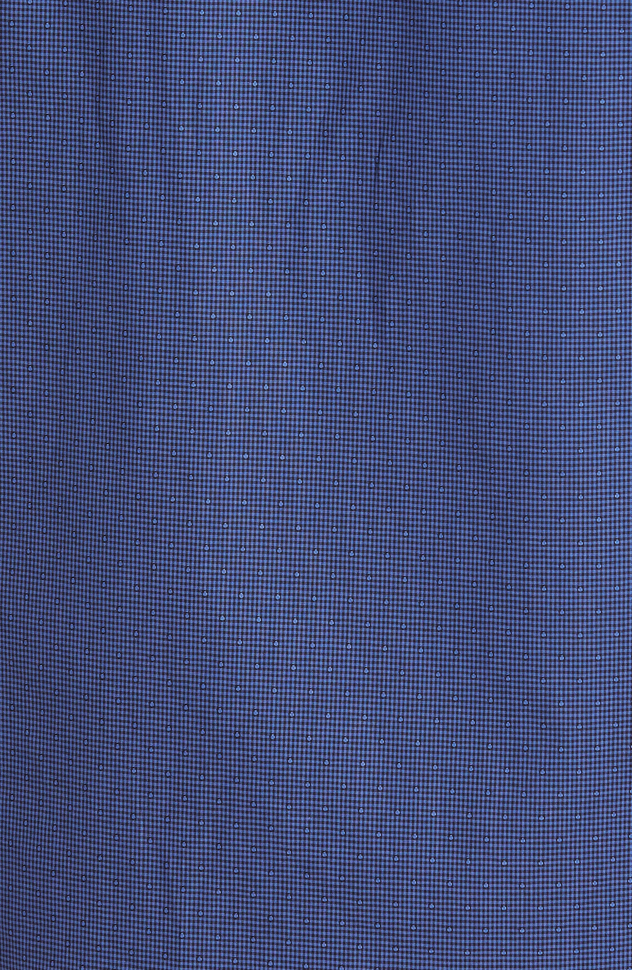 Galileo Dobby Microcheck Sport Shirt,                             Alternate thumbnail 5, color,                             Navy