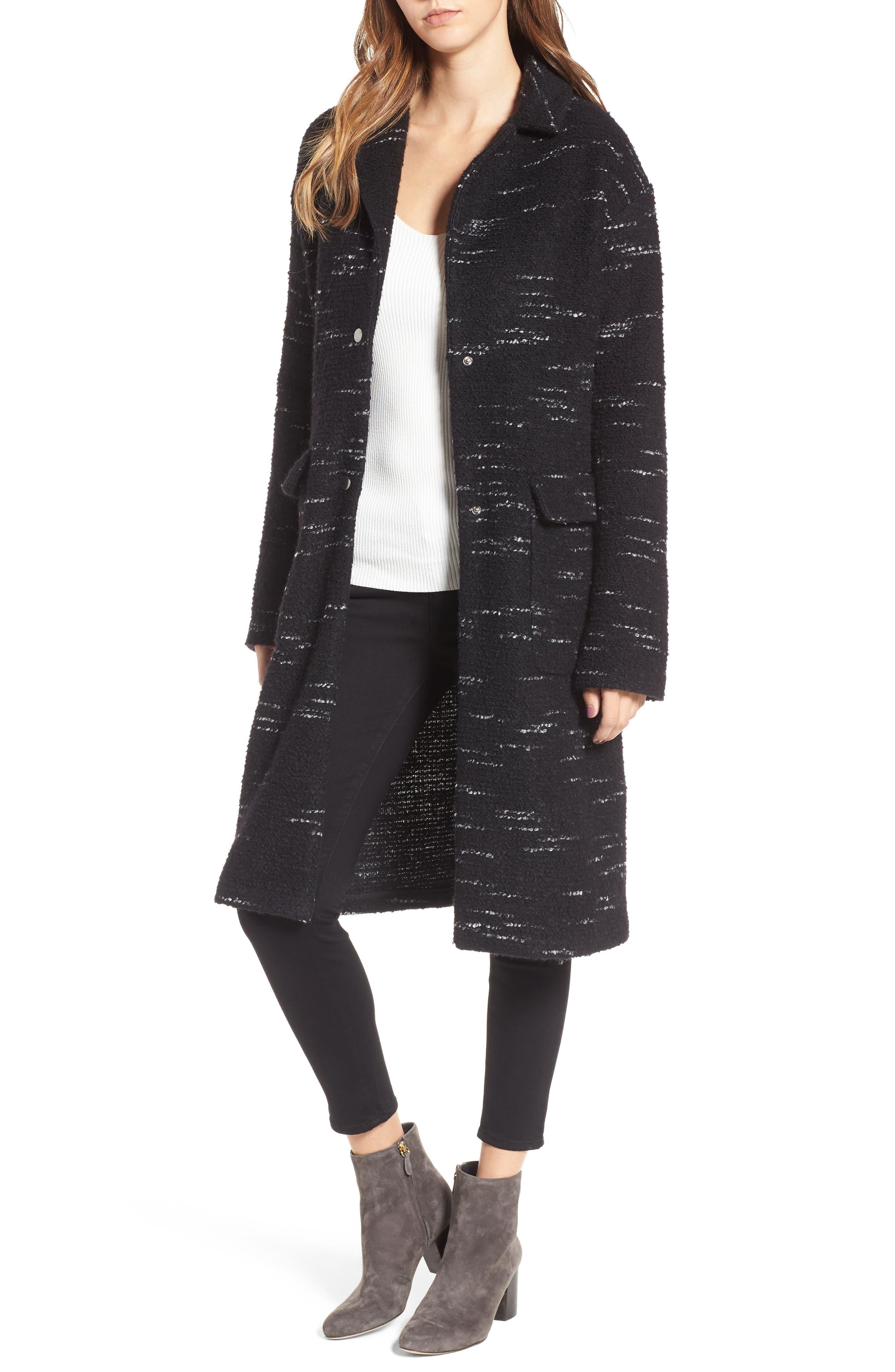 Bernardo Wool Blend Sweater Coat (Plus Size)