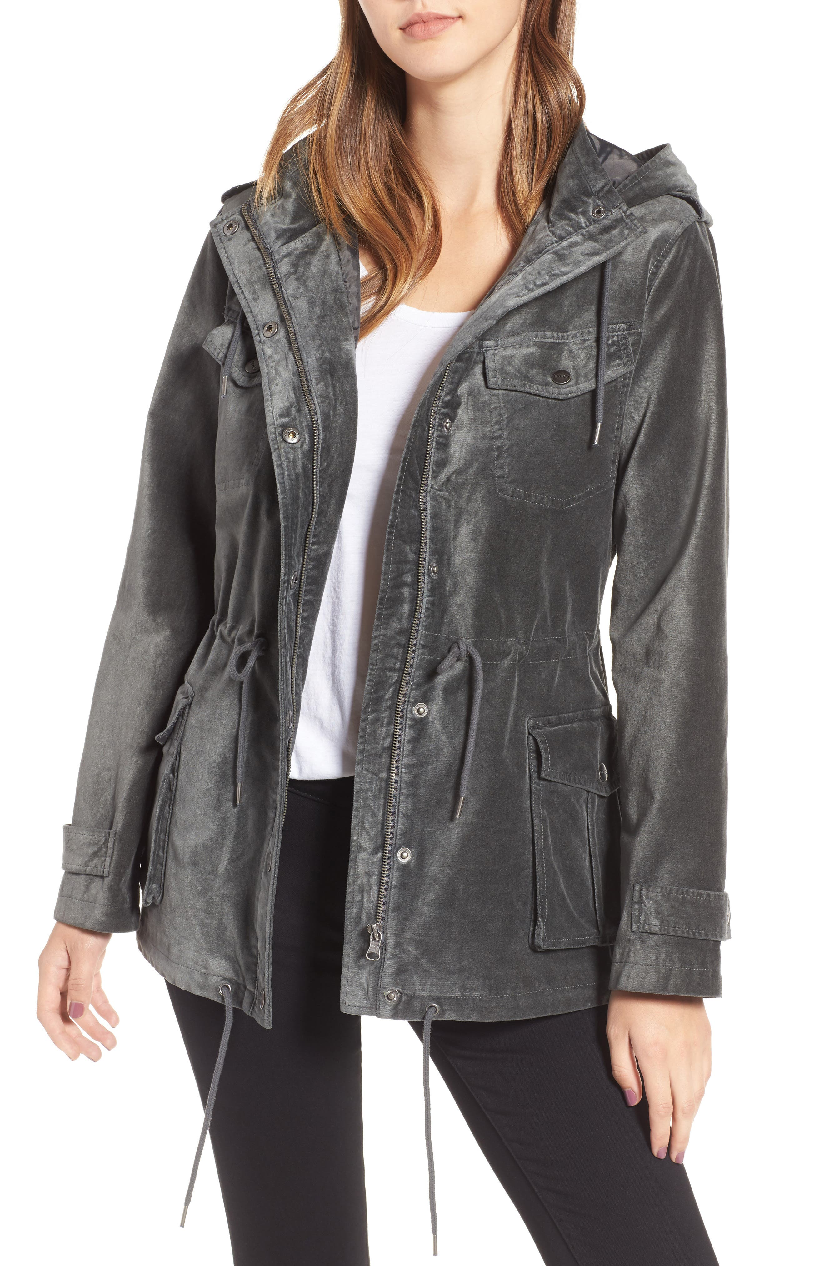 Main Image - BNCI Cotton Velveteen Hooded Anorak Jacket