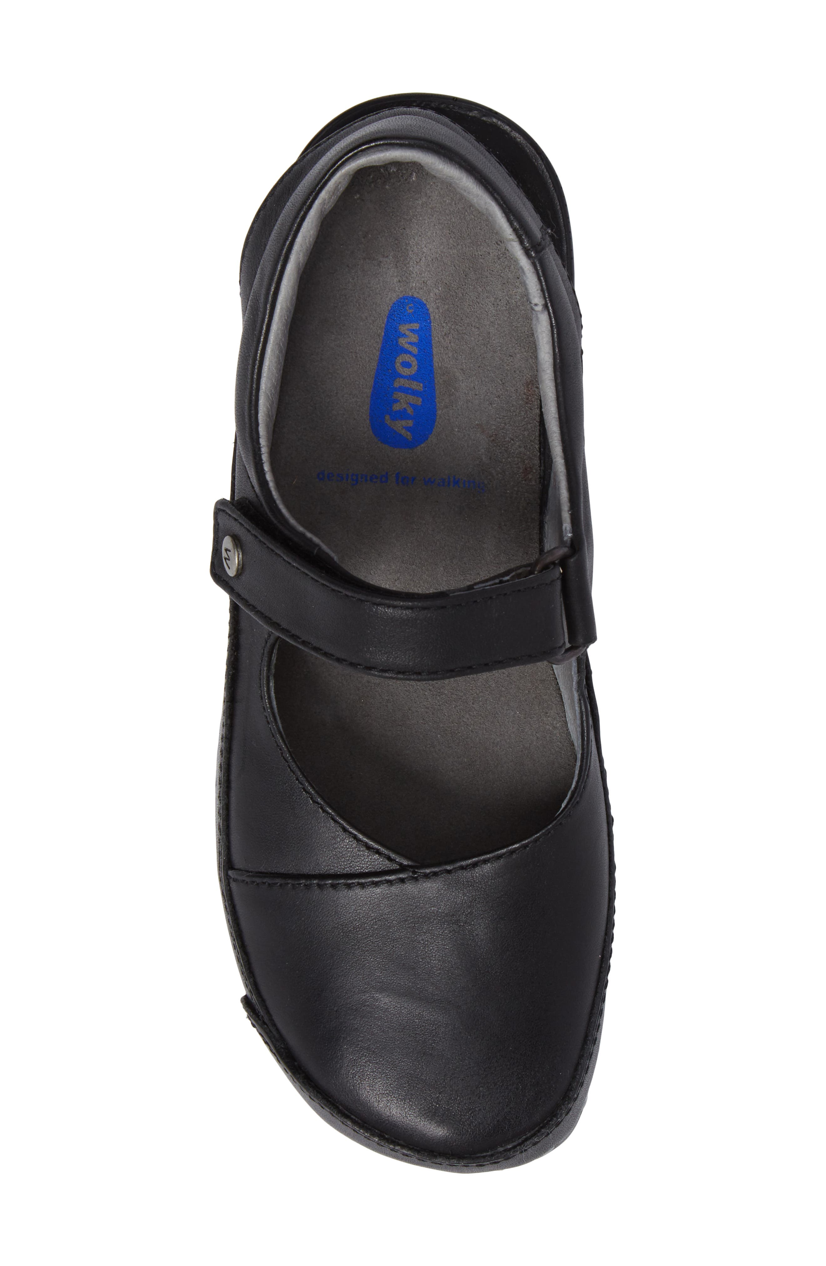 Slingback Clog,                             Alternate thumbnail 5, color,                             Black Mighty Greased Leather