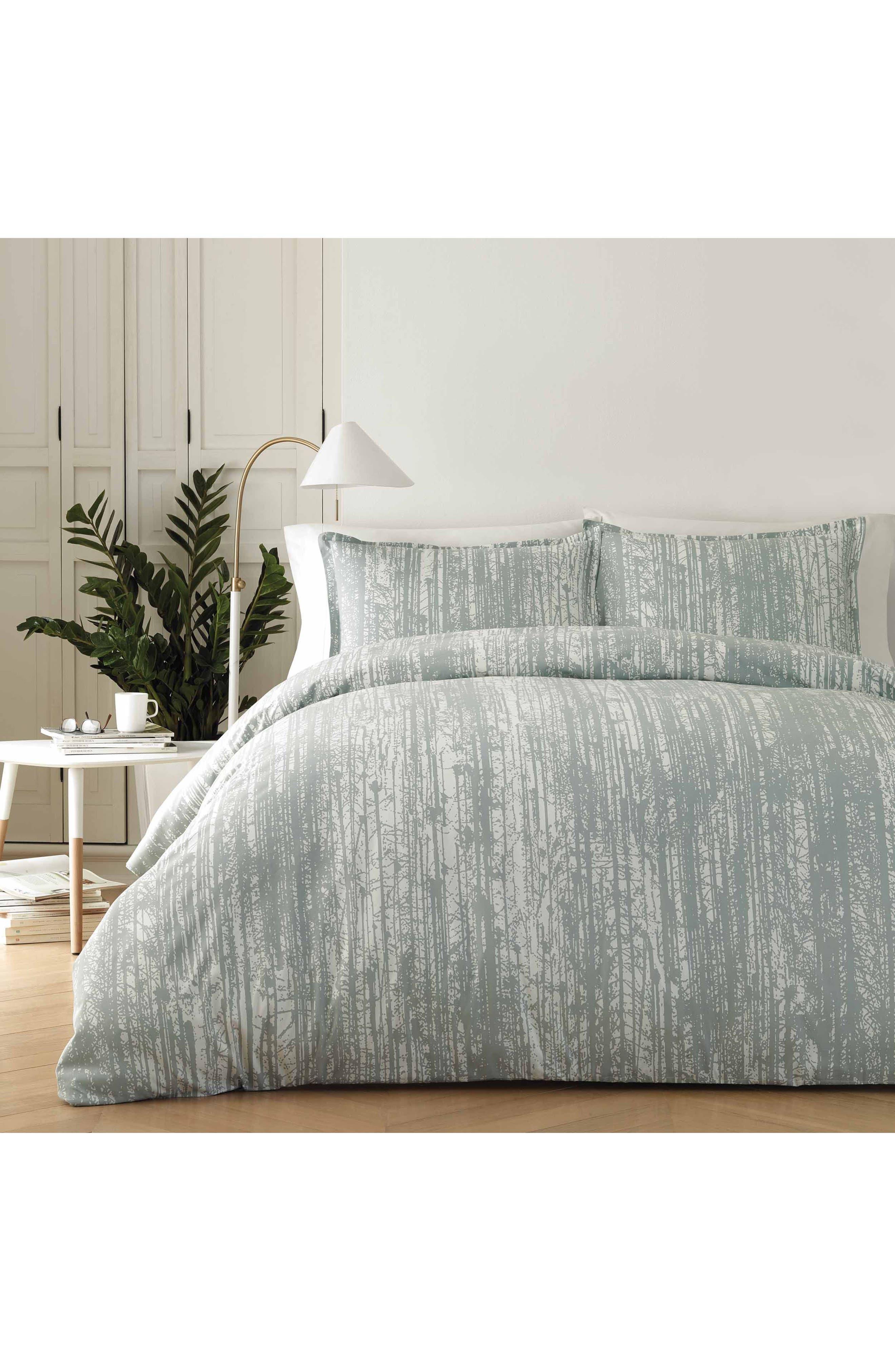 Pihkassa Comforter & Sham Set,                         Main,                         color, Sage