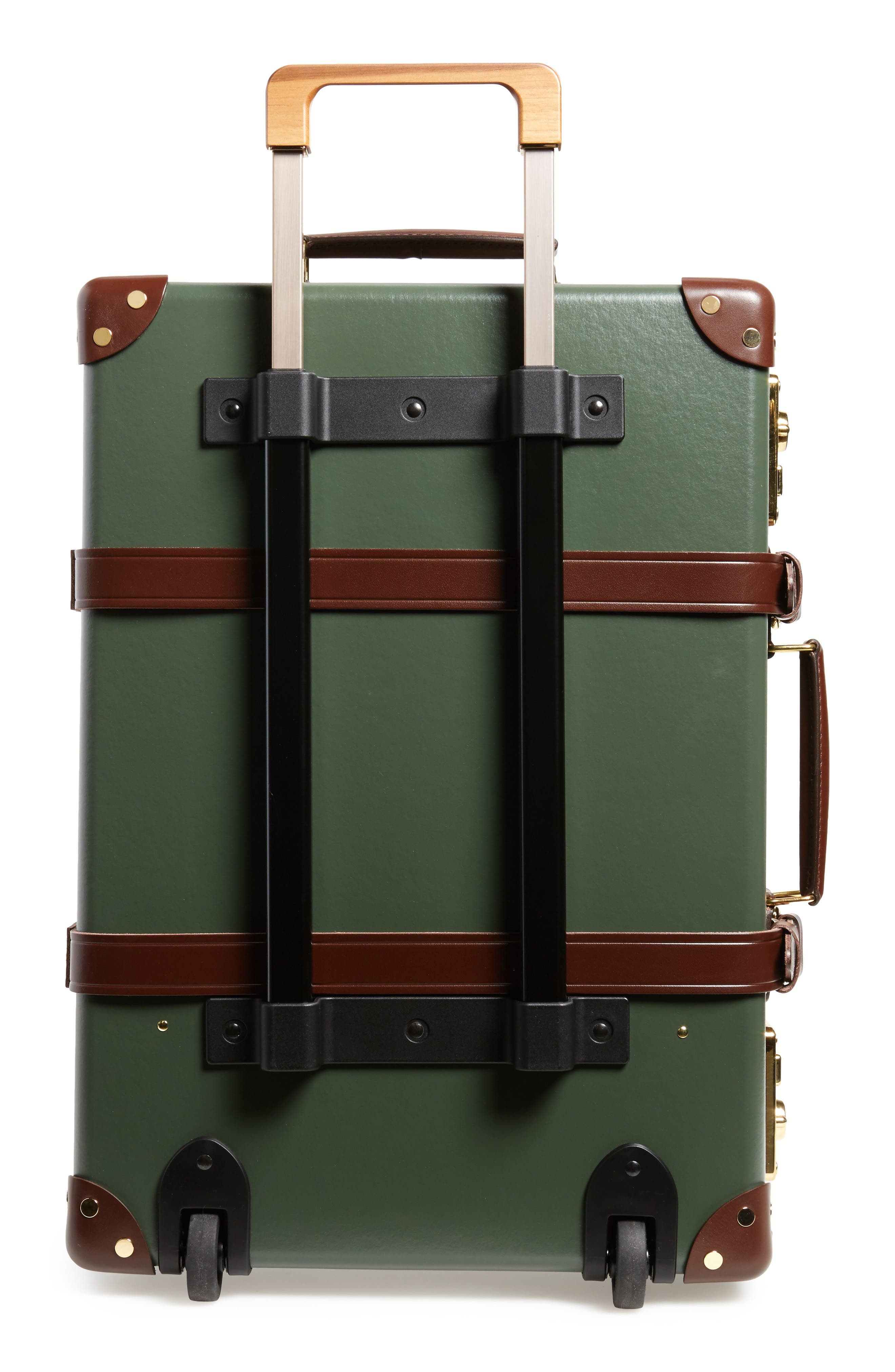 Centenary 21-Inch Hardshell Travel Trolley Case,                             Alternate thumbnail 3, color,                             Green/Tan