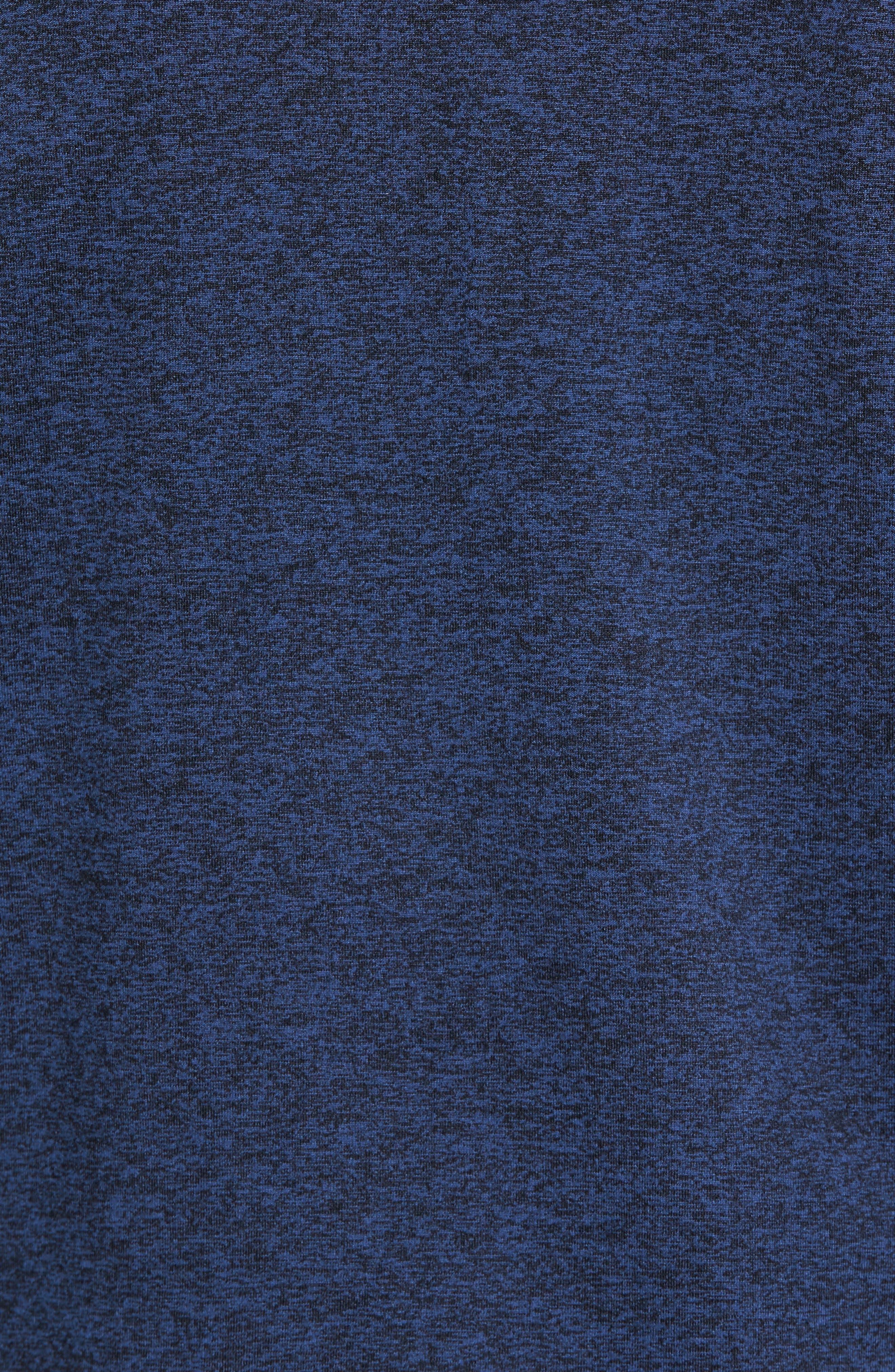 'Elevate' Moisture Wicking Stretch Quarter Zip Pullover,                             Alternate thumbnail 5, color,                             Navy Black/ Black/ White