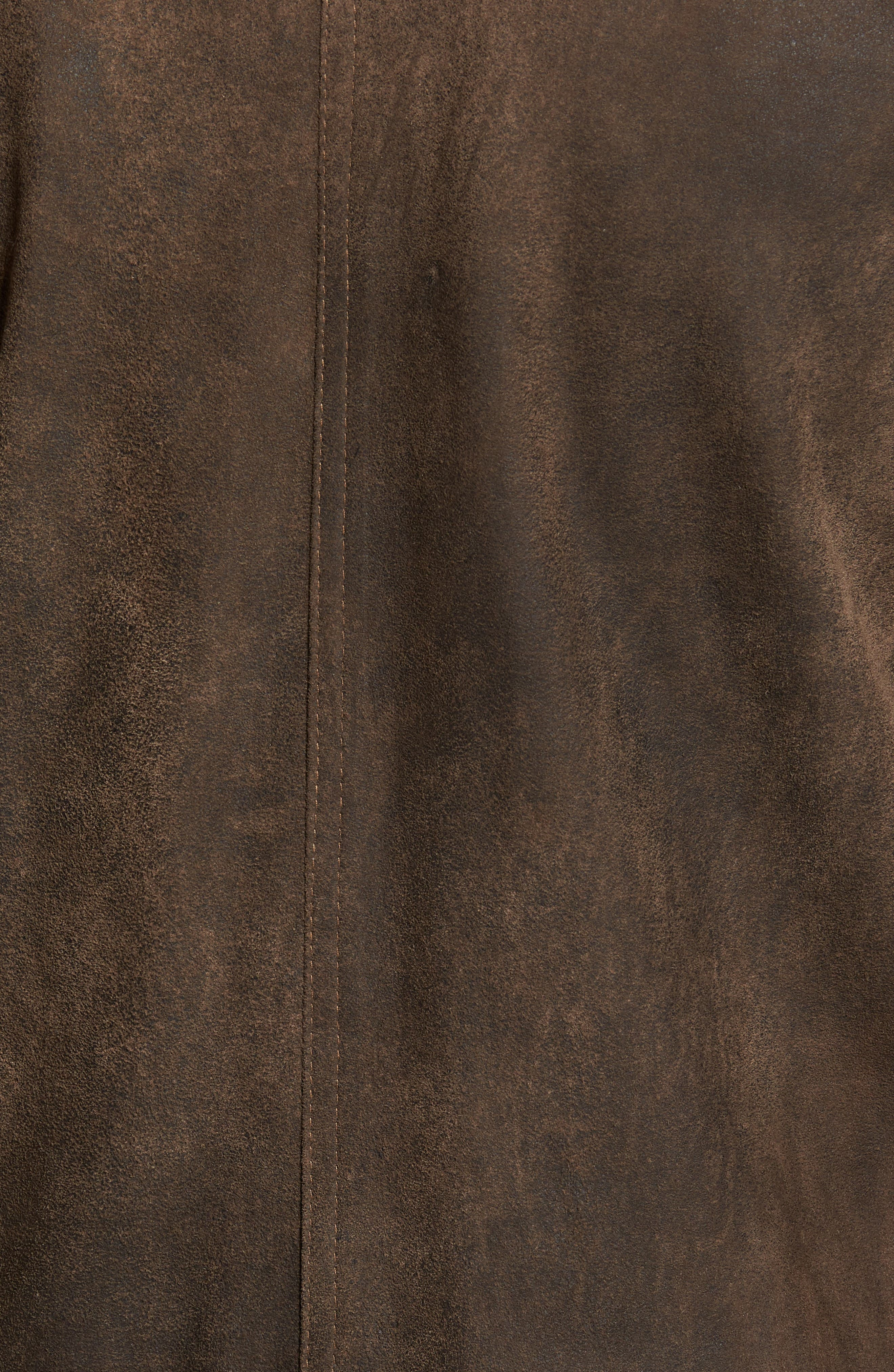Suede Moto Jacket,                             Alternate thumbnail 5, color,                             Frontier/ Cocoa