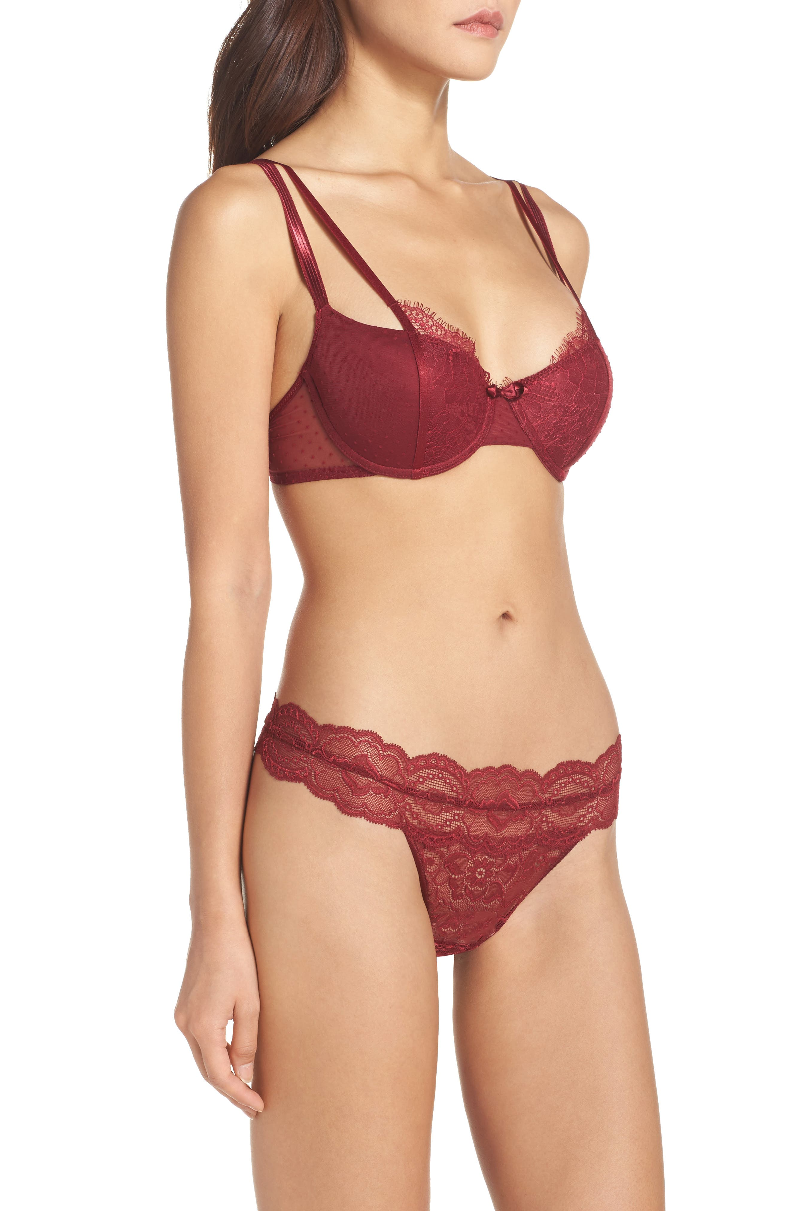 Alternate Image 7  - Passionata by Chantelle Blossom Underwire Demi Push-Up Bra