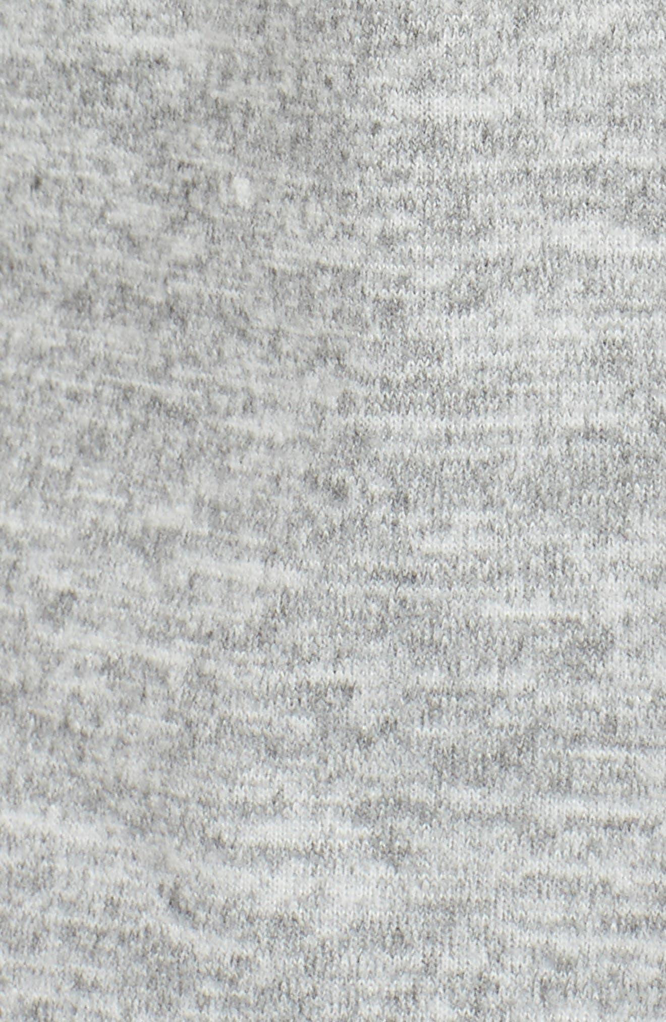 Front Pocket Knit Hoodie,                             Alternate thumbnail 5, color,                             Light Grey