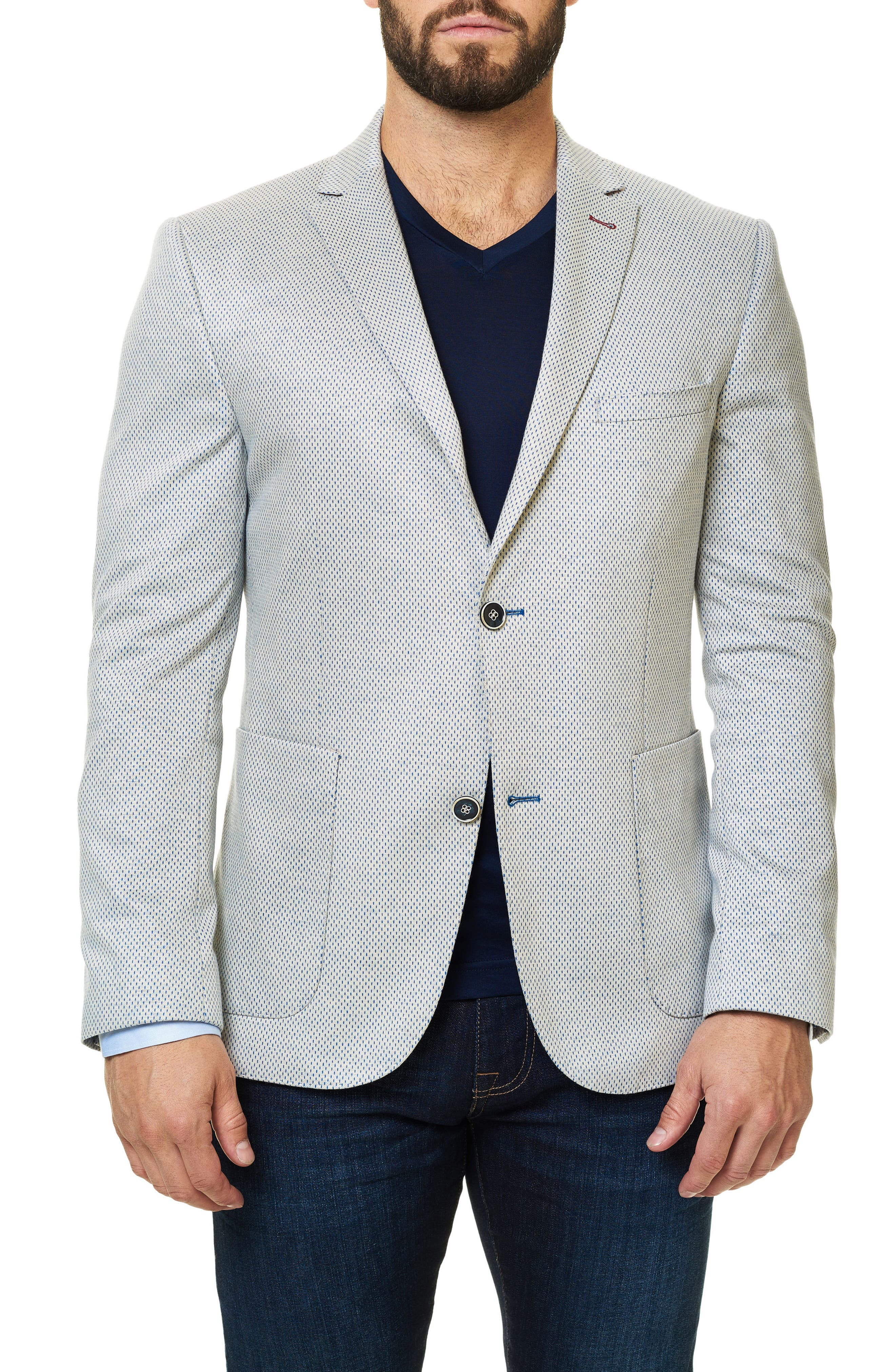 Maceoo Checkmate Dobby Dash Sport Coat